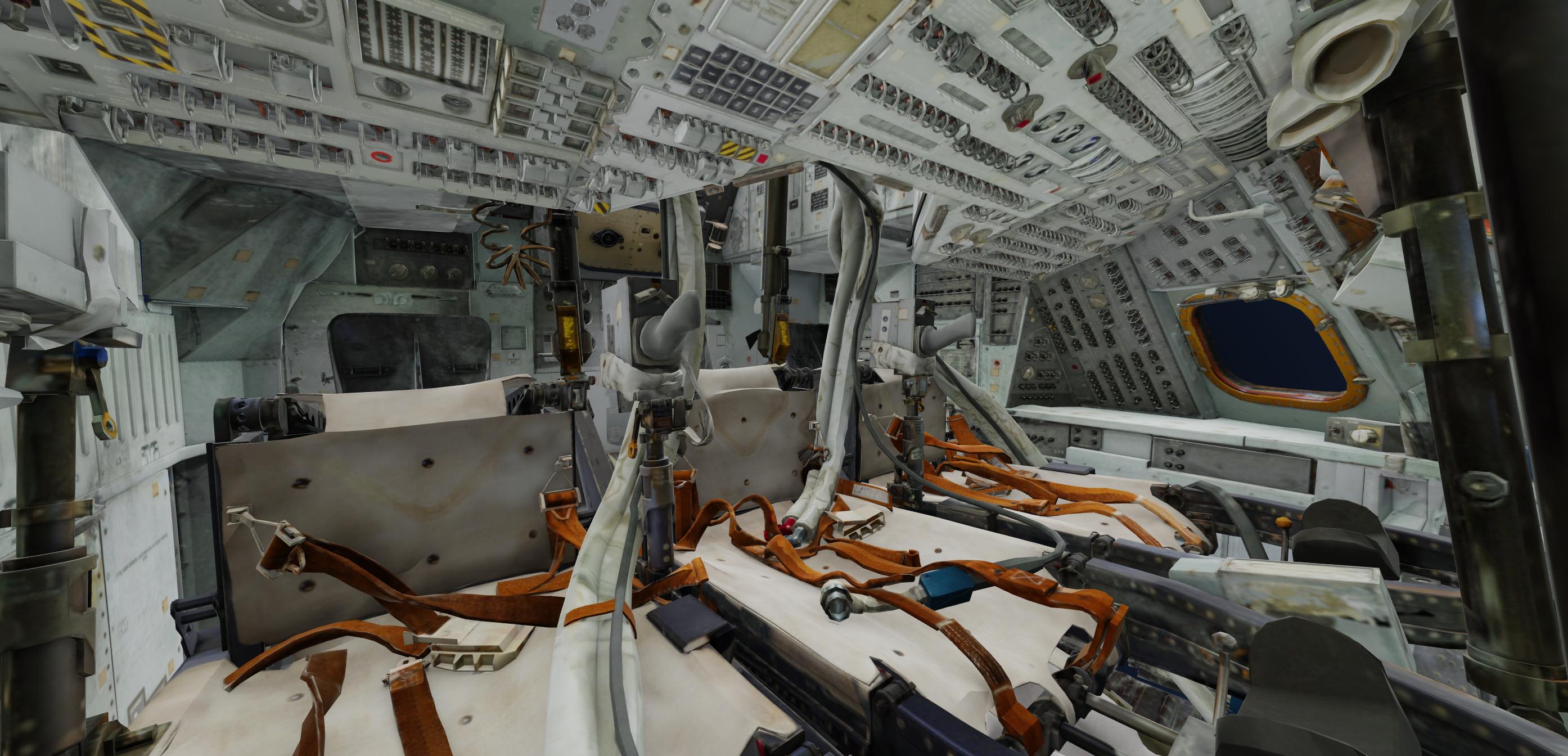 Crew compartment of the Apollo 11.