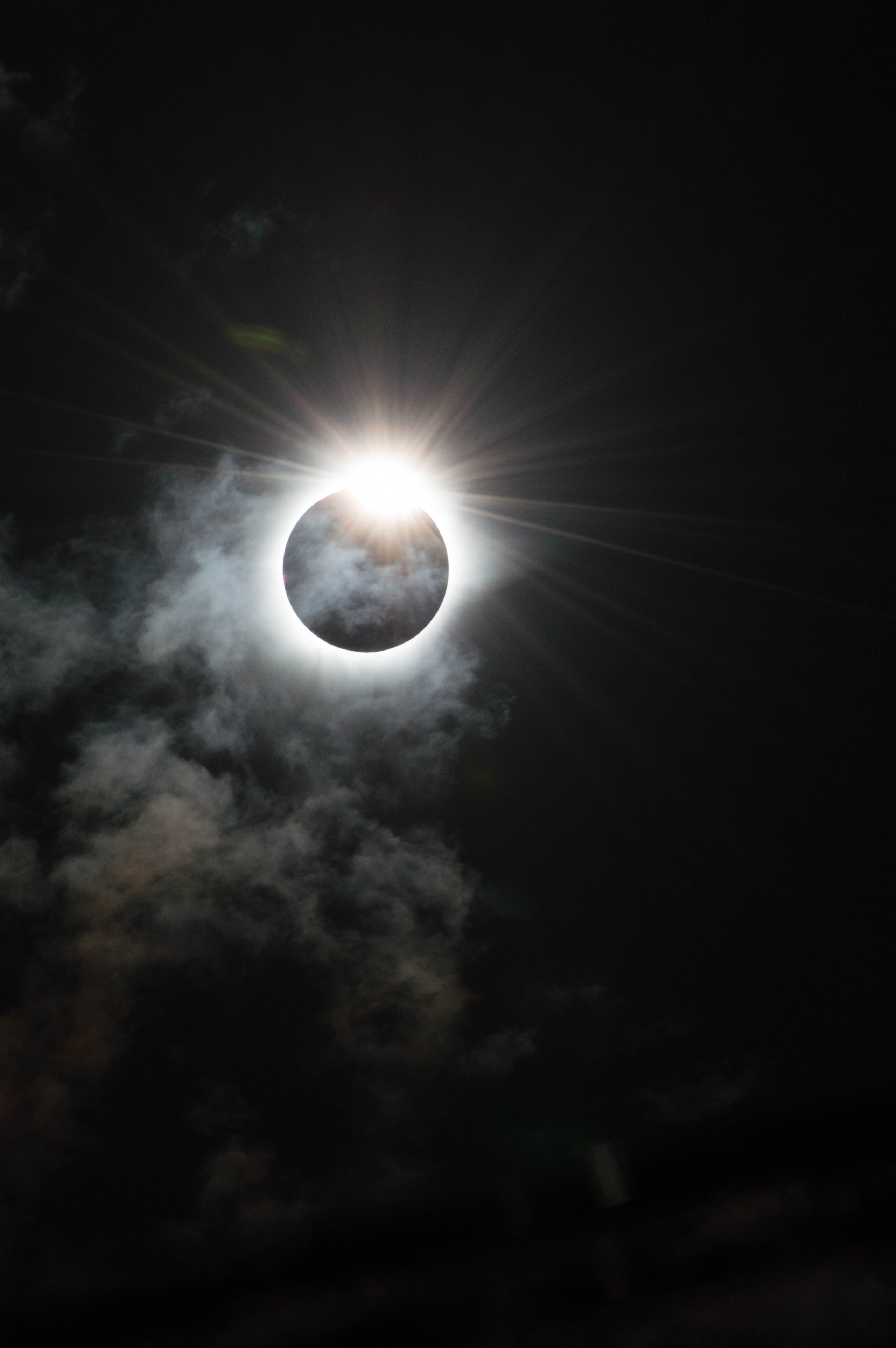 The dramatic moment that our star, the Sun, appears to be cloaked in darkness by the Moon during the total solar eclipse in Indonesia on March 9, 2016.