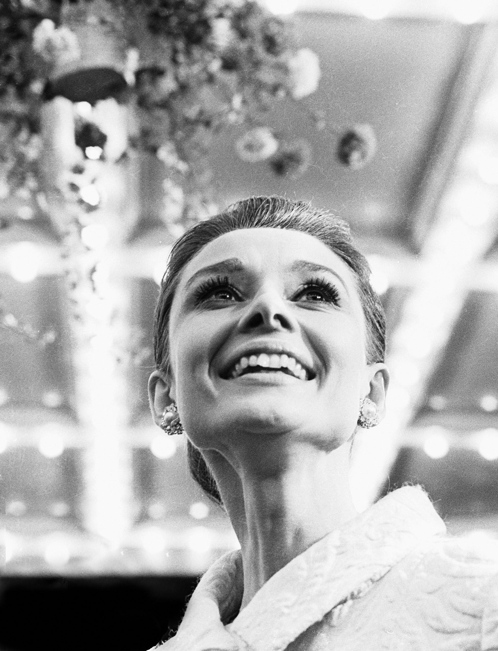 Portrait of Audrey Hepburn.