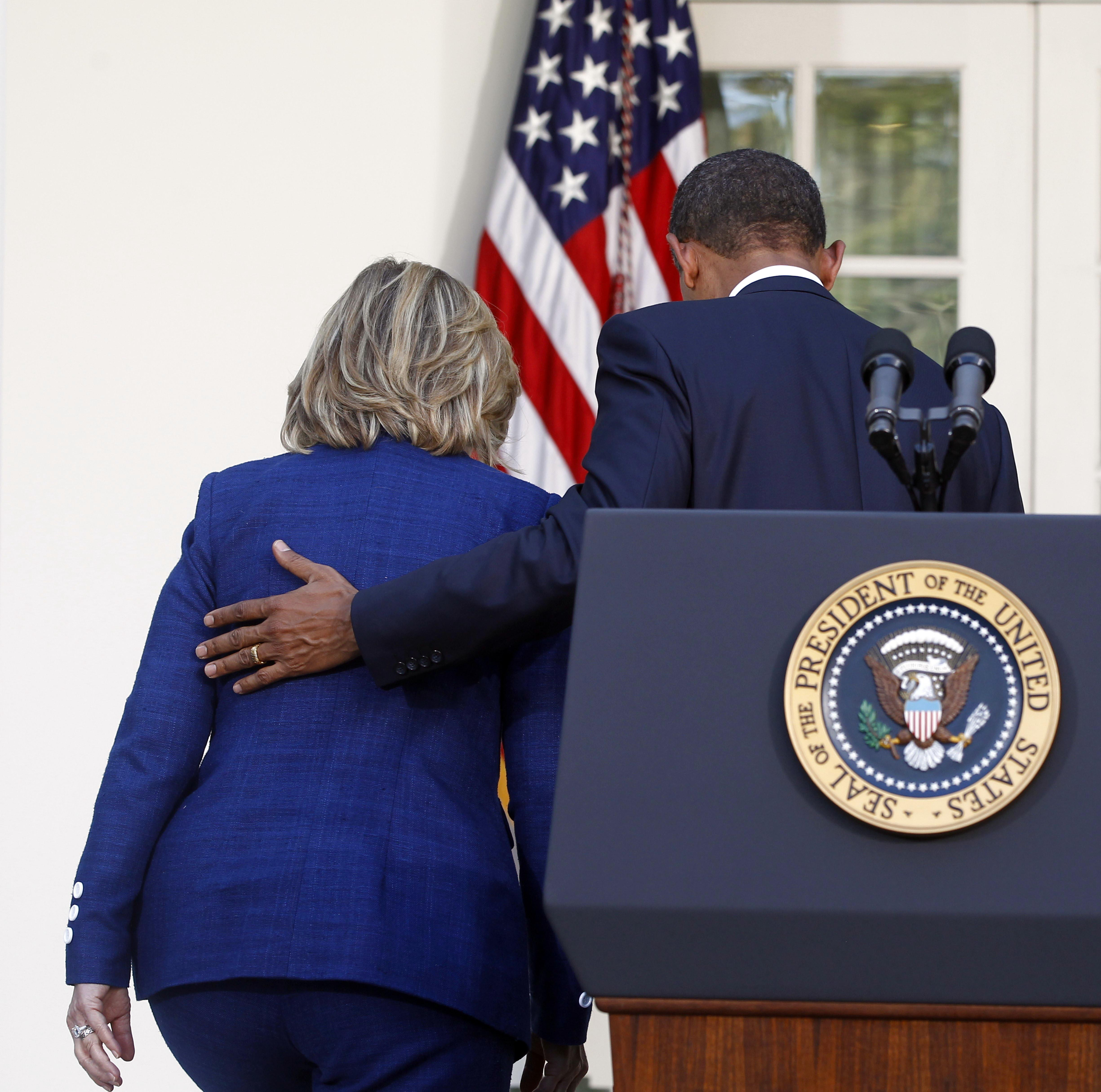 September 2010 President Barack Obama walks with then-Secretary of State Hillary Rodham Clinton after he made a statement in the Rose Garden of the White House in Washington on Sept. 1, 2010.