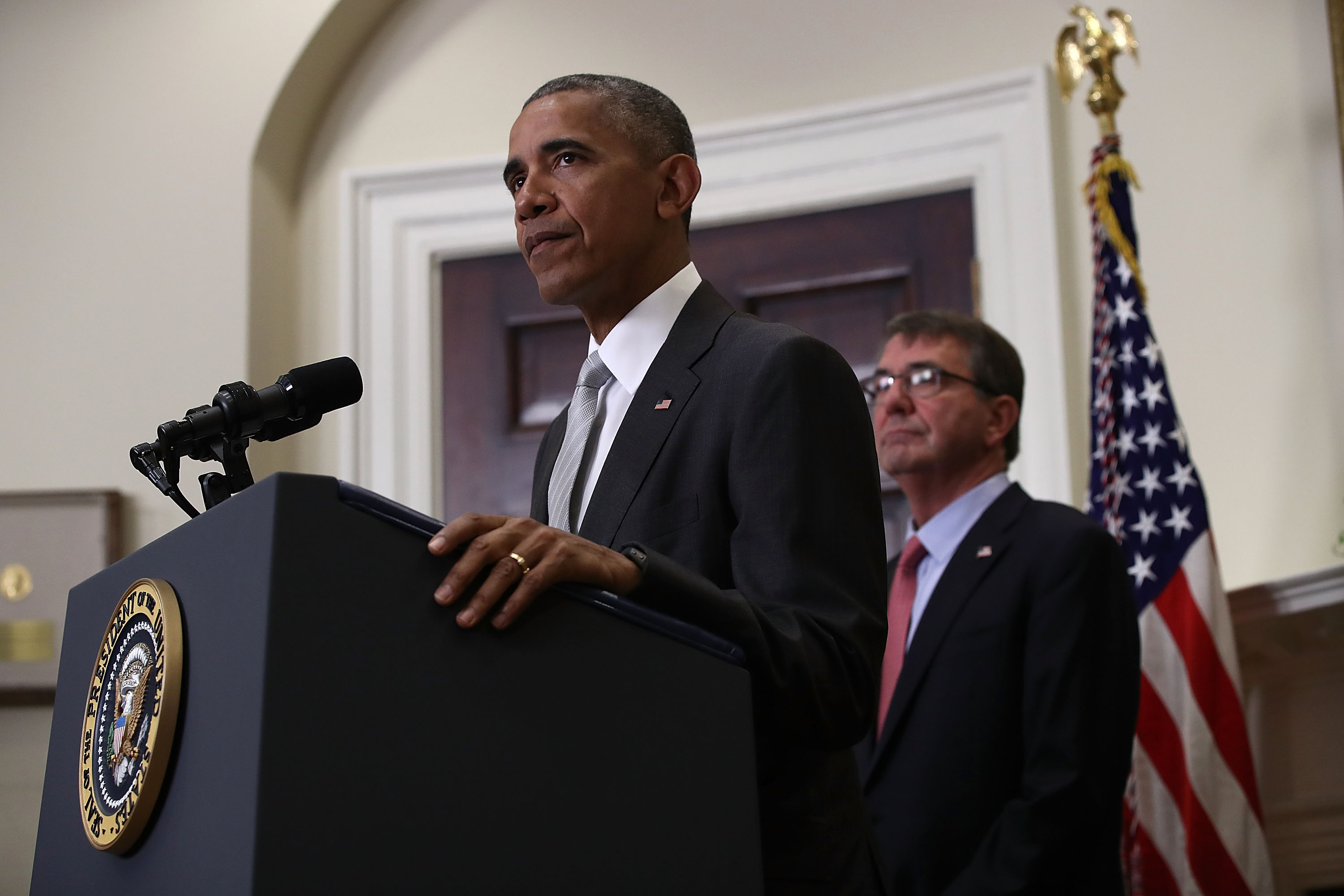 President Barack Obama delivers a statement on the deployment of U.S. troops in Afghanistan at the White House on July 6, 2016.