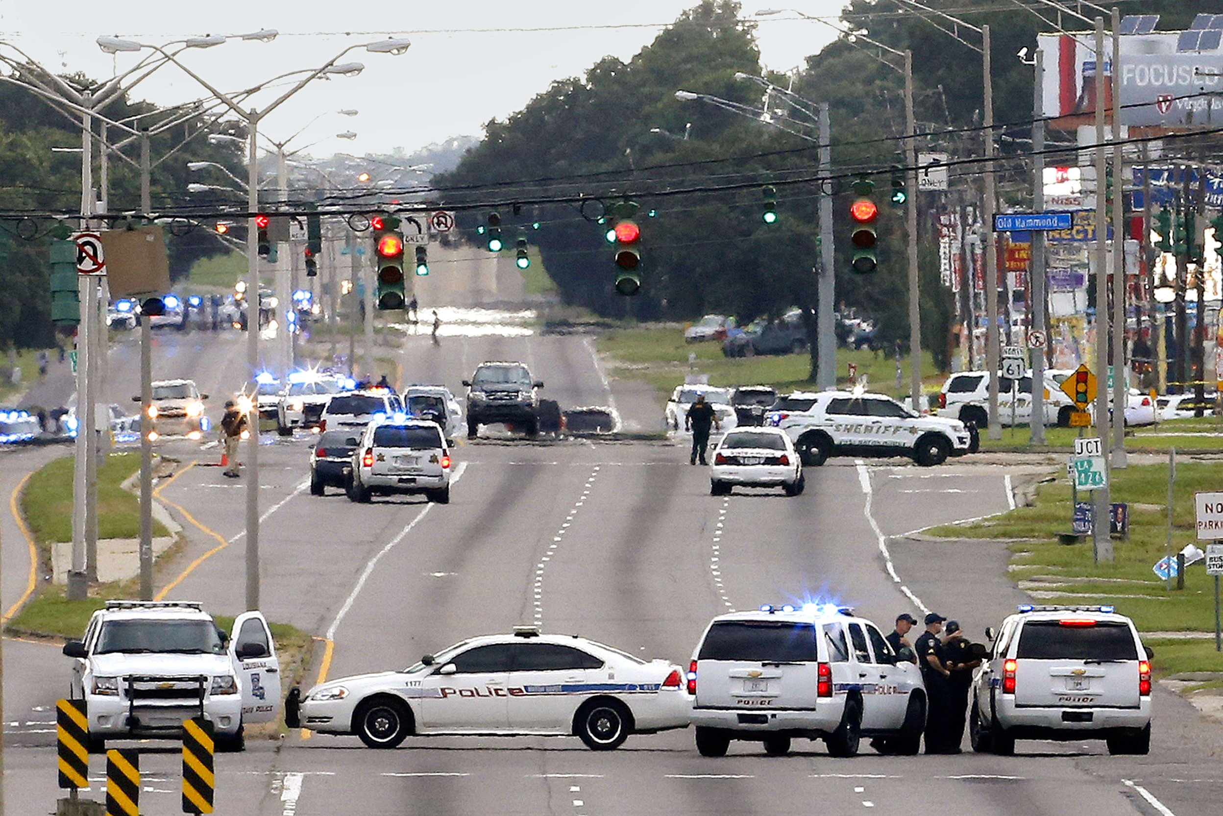 On July 17, police responded to the fatal shooting of three officers in Baton Rouge