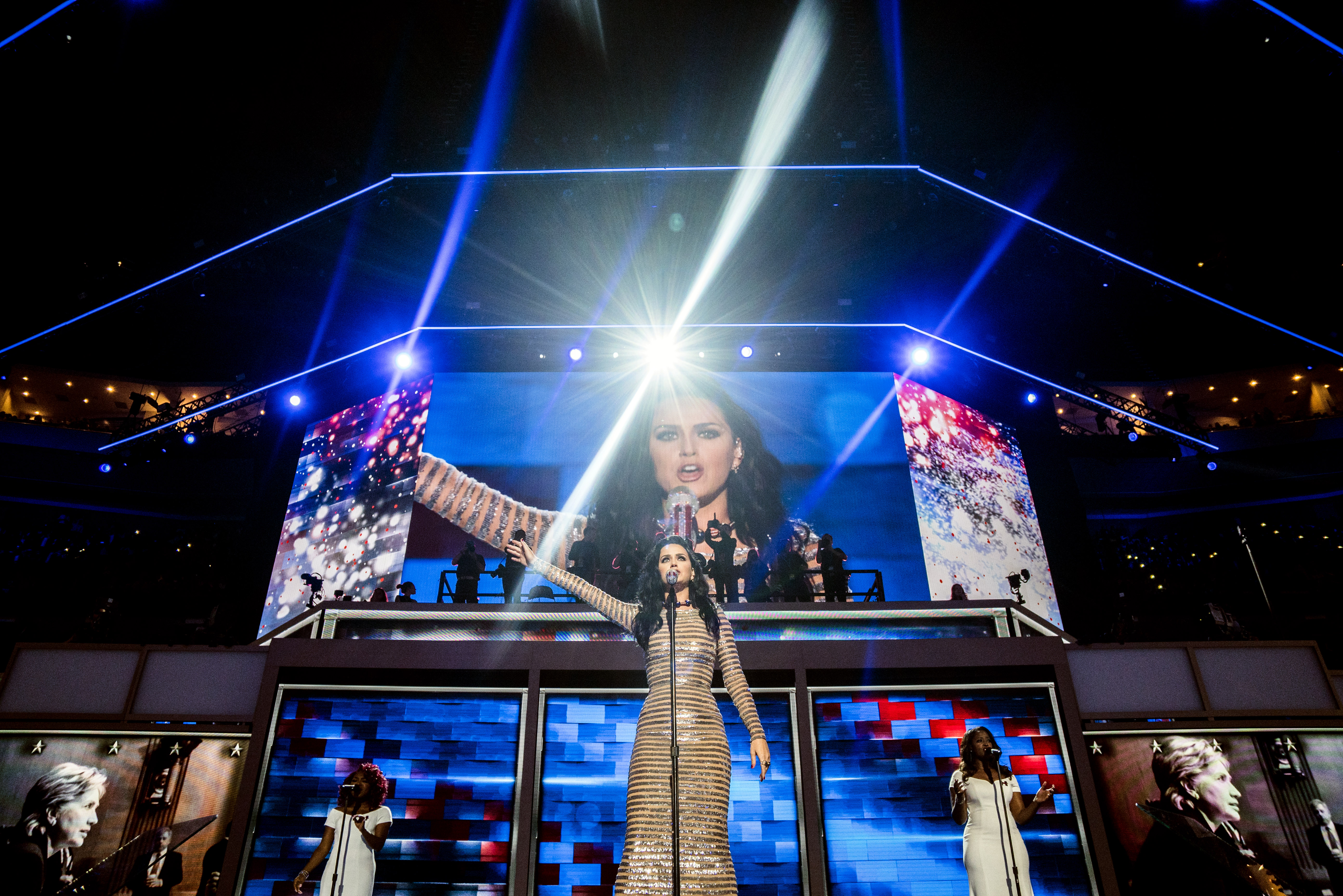 Katy Perry performs at the Democratic National Convention in Philadelphia on July 28, 2016.