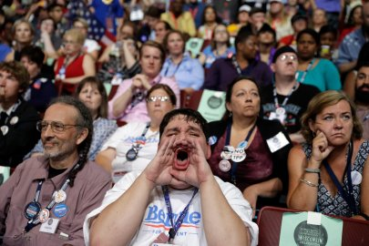 Ardent Bernie Sanders supporters hijacked the opening moments of the Democratic National Convention, repeatedly booing mentions of Hillary Clinton, chanting Sanders' name and turning what was supposed to be a celebration into an ugly family feud. Supporter for former Democratic Presidential candidate, Sen. Bernie Sanders, I-Vt., John Stanley from DeForest Wis., reacts during the first day of the Democratic National Convention in Philadelphia, Monday, July 25, 2016.