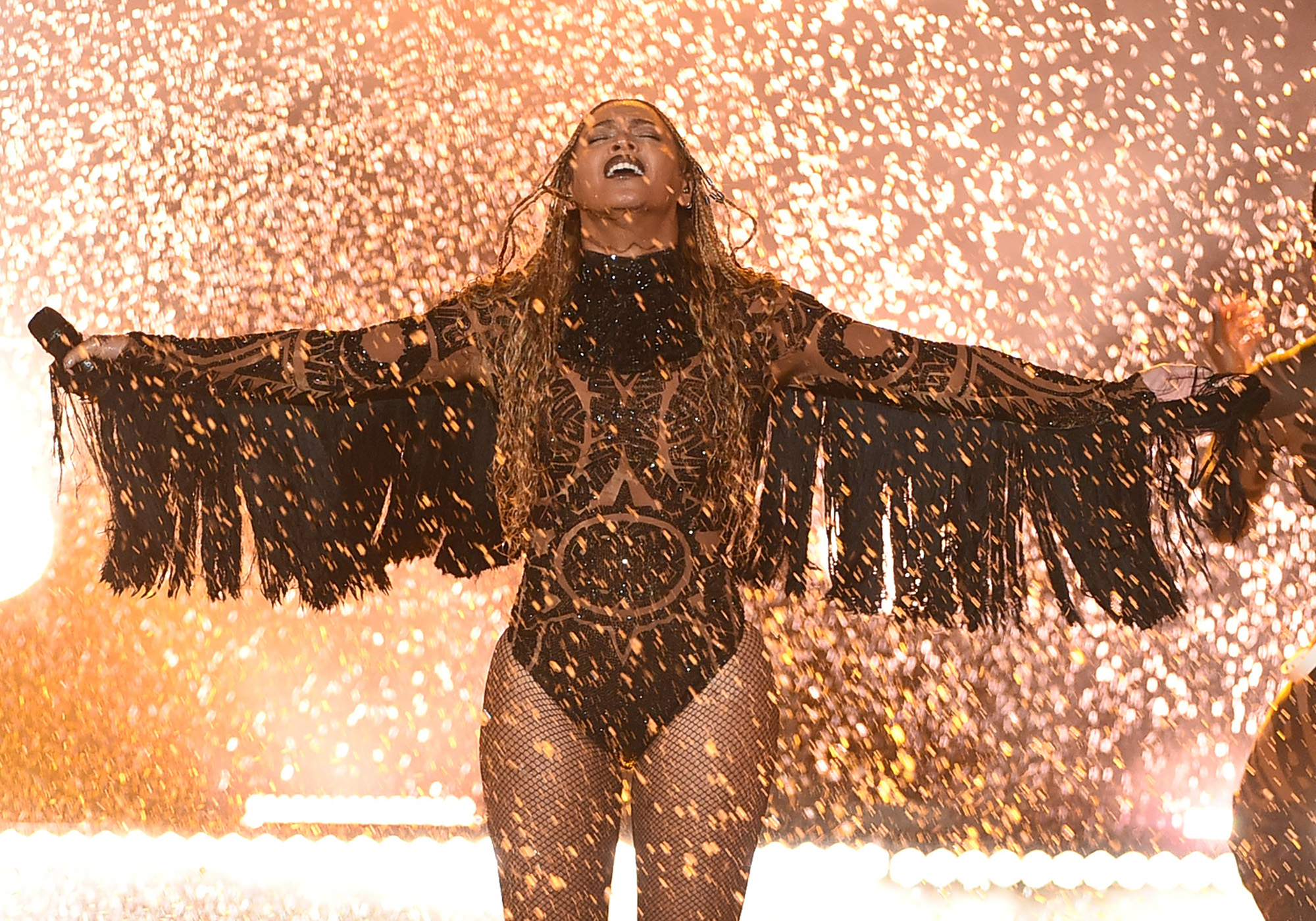 Beyonce performs onstage during the 2016 BET Awards at the Microsoft Theater on June 26, 2016 in Los Angeles, California.  (Photo by Kevin Winter/BET/Getty Images for BET)