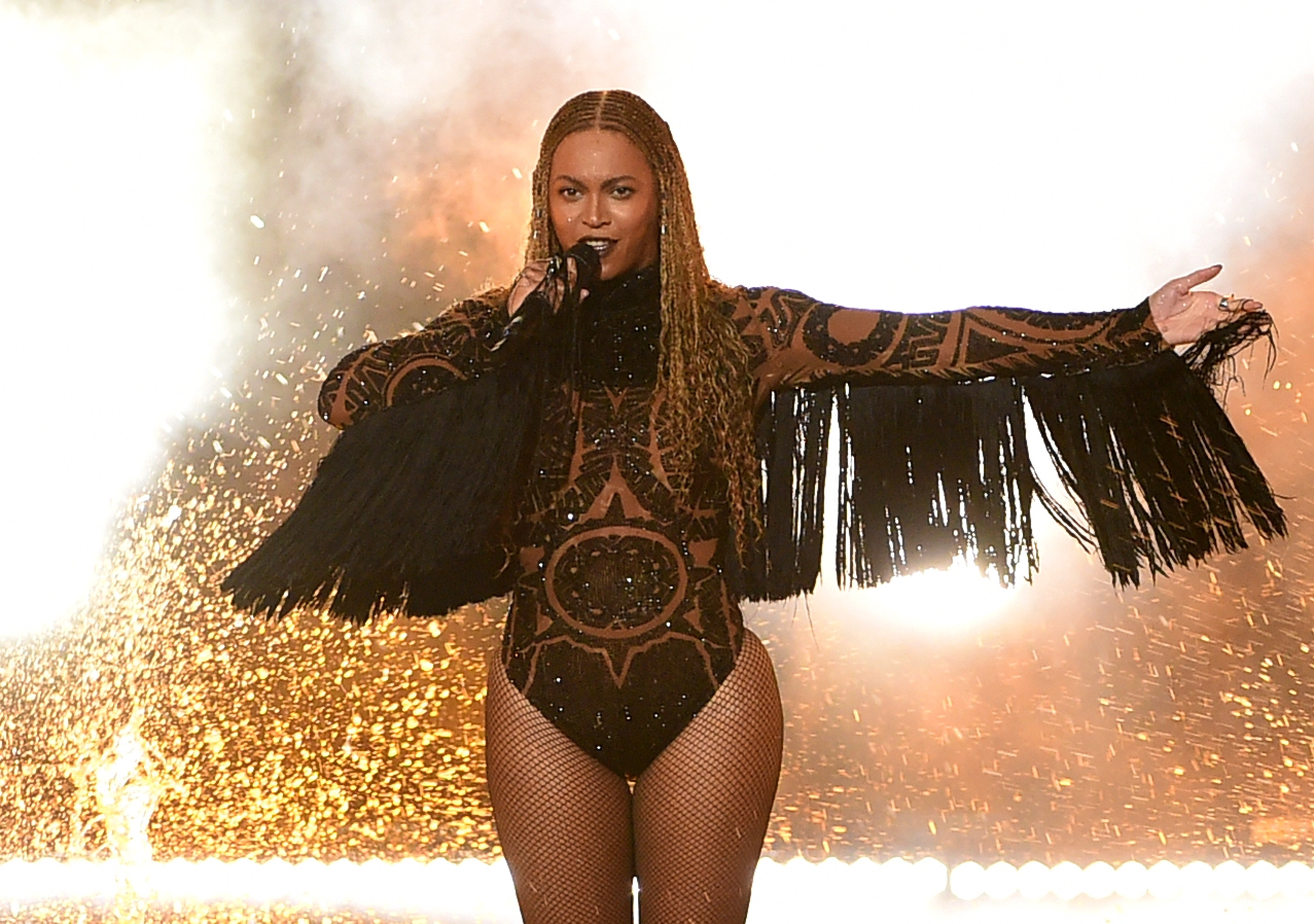 LOS ANGELES, CA - JUNE 26:  Recording artist Beyonce performs onstage during the 2016 BET Awards at the Microsoft Theater on June 26, 2016 in Los Angeles, California.  (Photo by Kevin Winter/BET/Getty Images for BET)