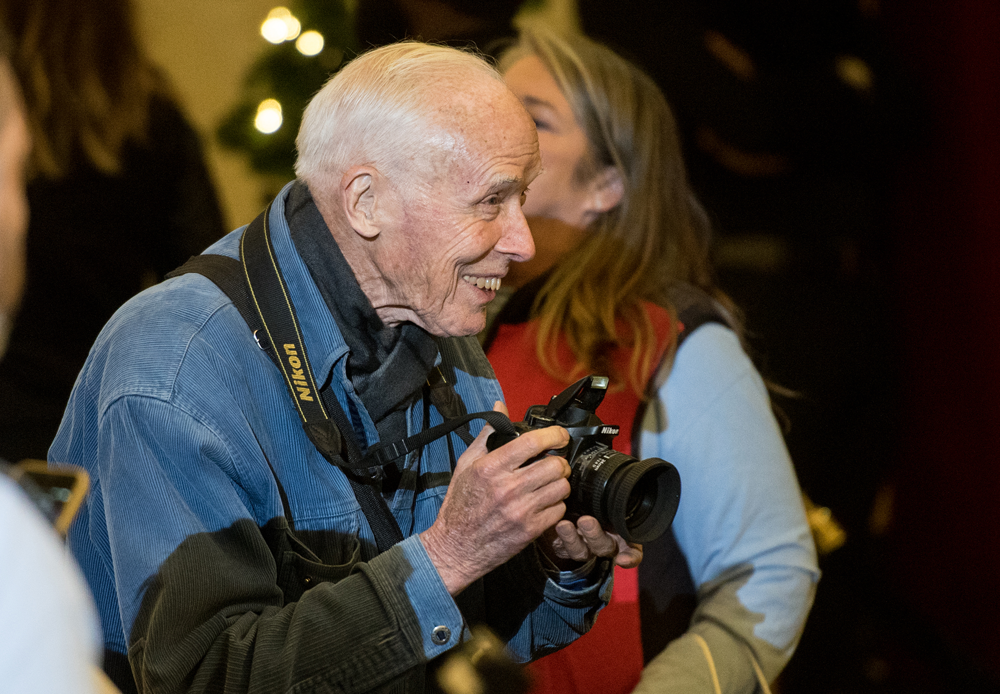 Bill Cunningham attends the 2015 Lord & Taylor holiday windows unveiling at Lord & Taylor on November 12, 2015 in New York City.  (Photo by Noam Galai/WireImage)