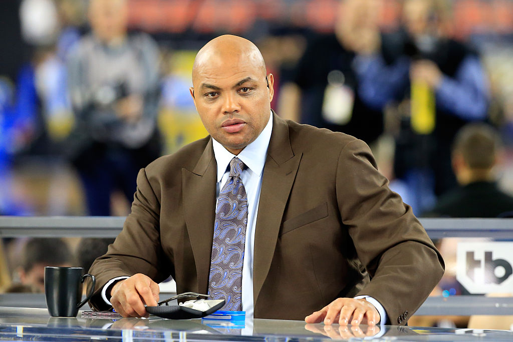 Former NBA player and commentator Charles Barkley looks on prior to the 2016 NCAA Men's Final Four National Championship game between the Villanova Wildcats and the North Carolina Tar Heels at NRG Stadium on April 4, 2016 in Houston, Texas.
