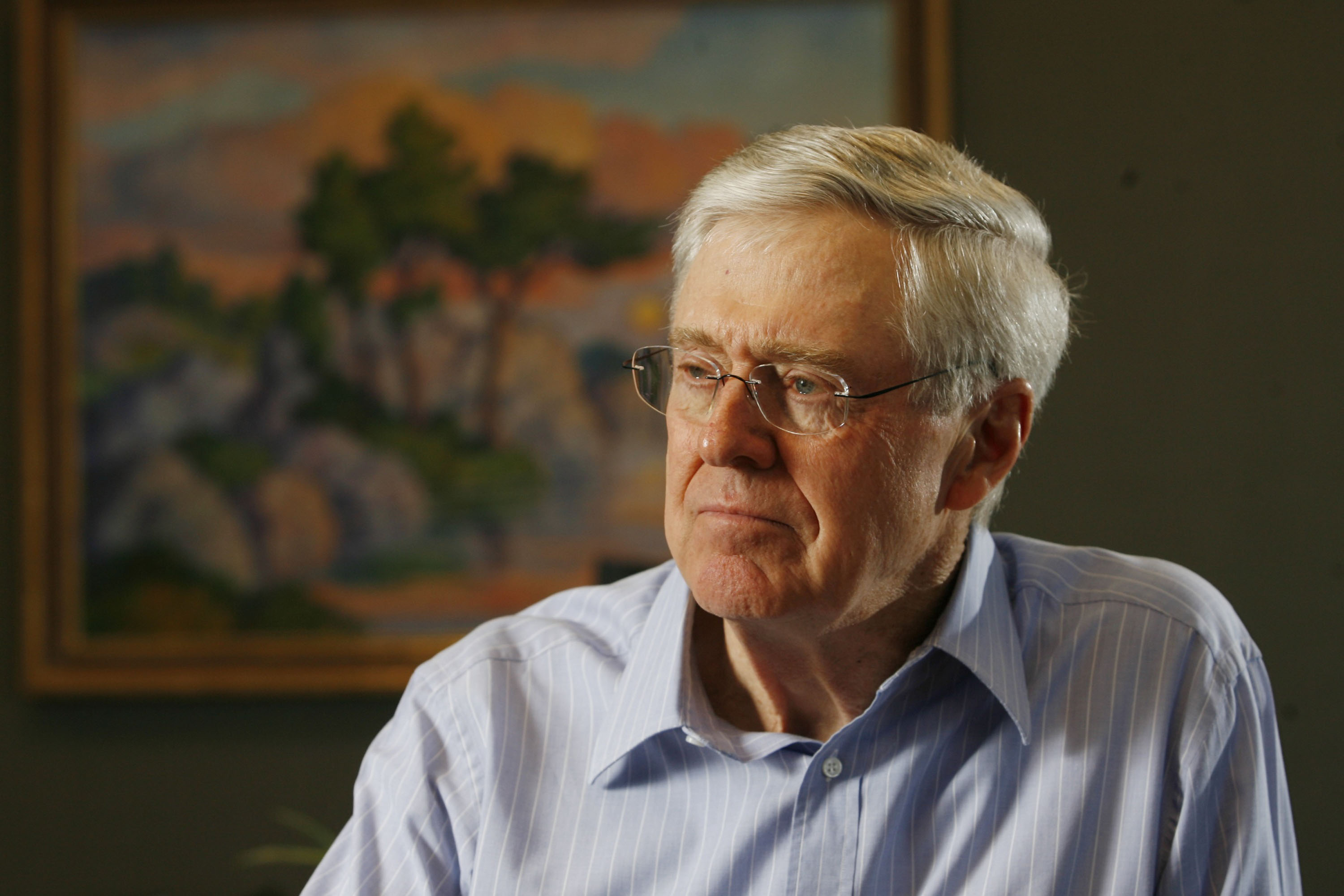 Charles Koch, head of Koch Industries, talks about his new book on Feb. 26, 2007.