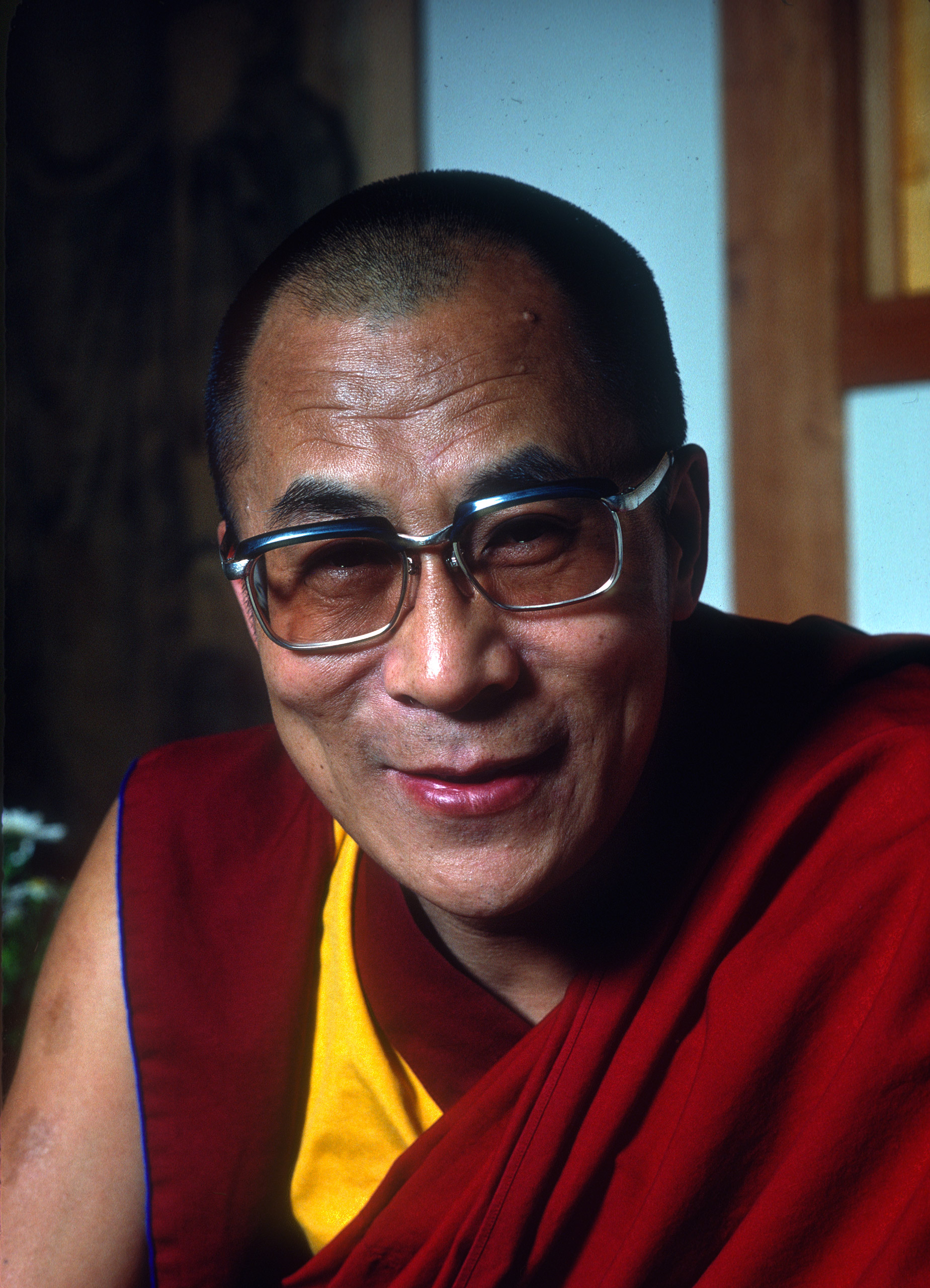Portrait of the Dalai Lama.