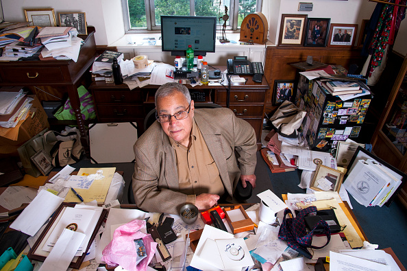 David Margolis, a senior official in the Deputy Attorney General's office at the Department of Justice, poses at his desk  June 25, 2015 in Washington, DC.