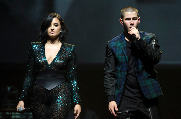 Singers Demi Lovato and Nick Jonas perform during the '2016 Honda Civic Tour Featuring Demi Lovato & Nick Jonas: Future Now' tour at the Barclays Center on July 8, 2016 in New York City.