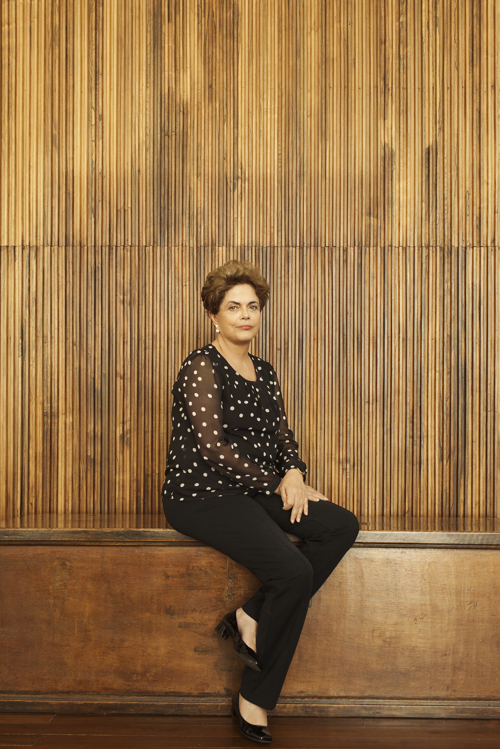 Suspended Brazilian President Dilma Rousseff at the Alvorada residential palace in Brasilia on July 22, 2016.