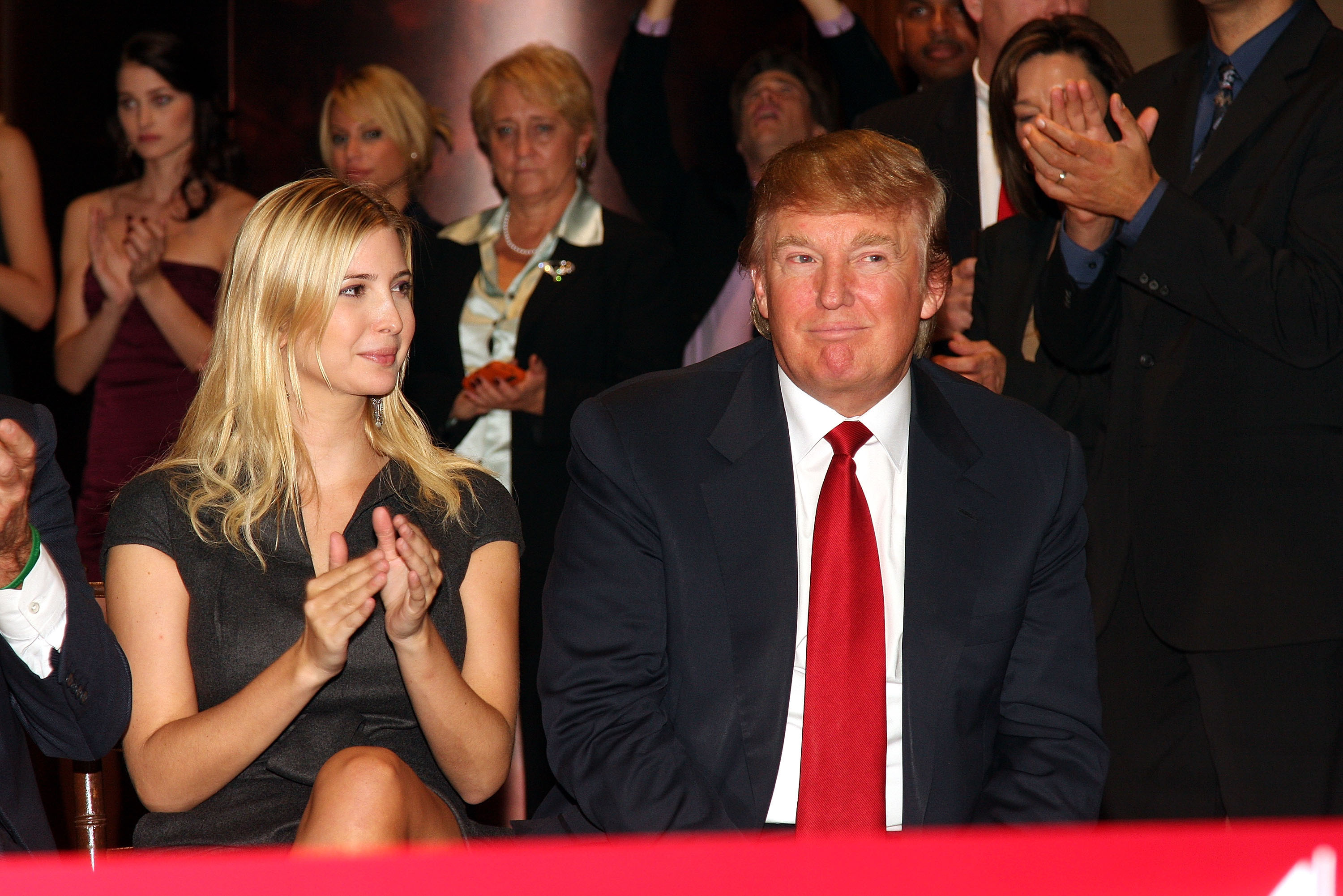 ATLANTIC CITY, NJ - OCTOBER 02:  Donald Trump and Ivanka Trump, Vice President of Development and Acquisitions for Trump Organization, attend the Ribbon Cutting Ceremony to celebrate the opening of The Chairman Tower at the Trump Taj Mahal October 2, 2008 Atlantic City, New Jersey.