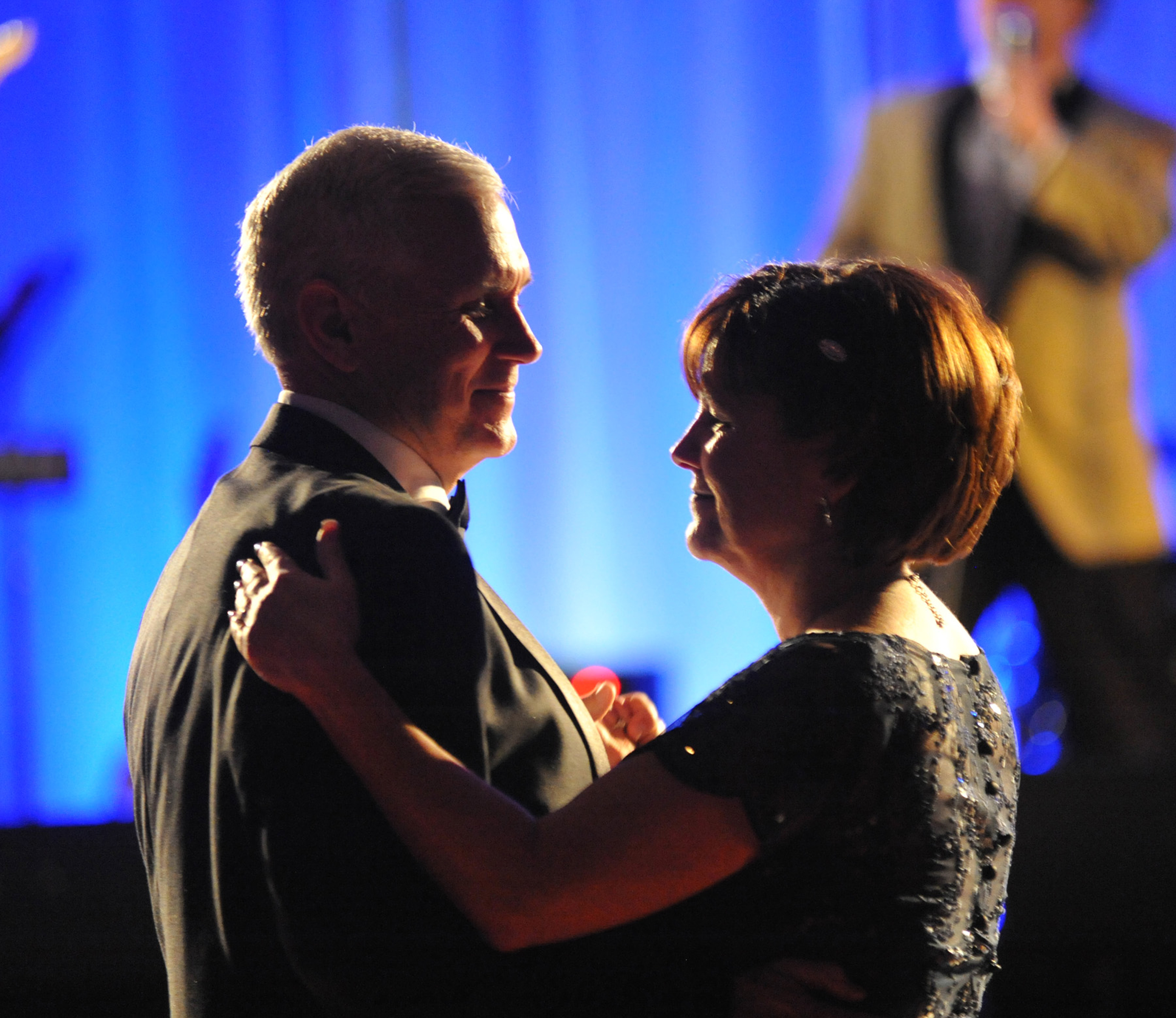 Governor-elect Mike Pence and wife Karen dance to the music of The Impalas  at the Pence-Ellspermann Inaugural Ball Dinner and Dance at the JW Marriott Saturday on Jan. 12, 2013.