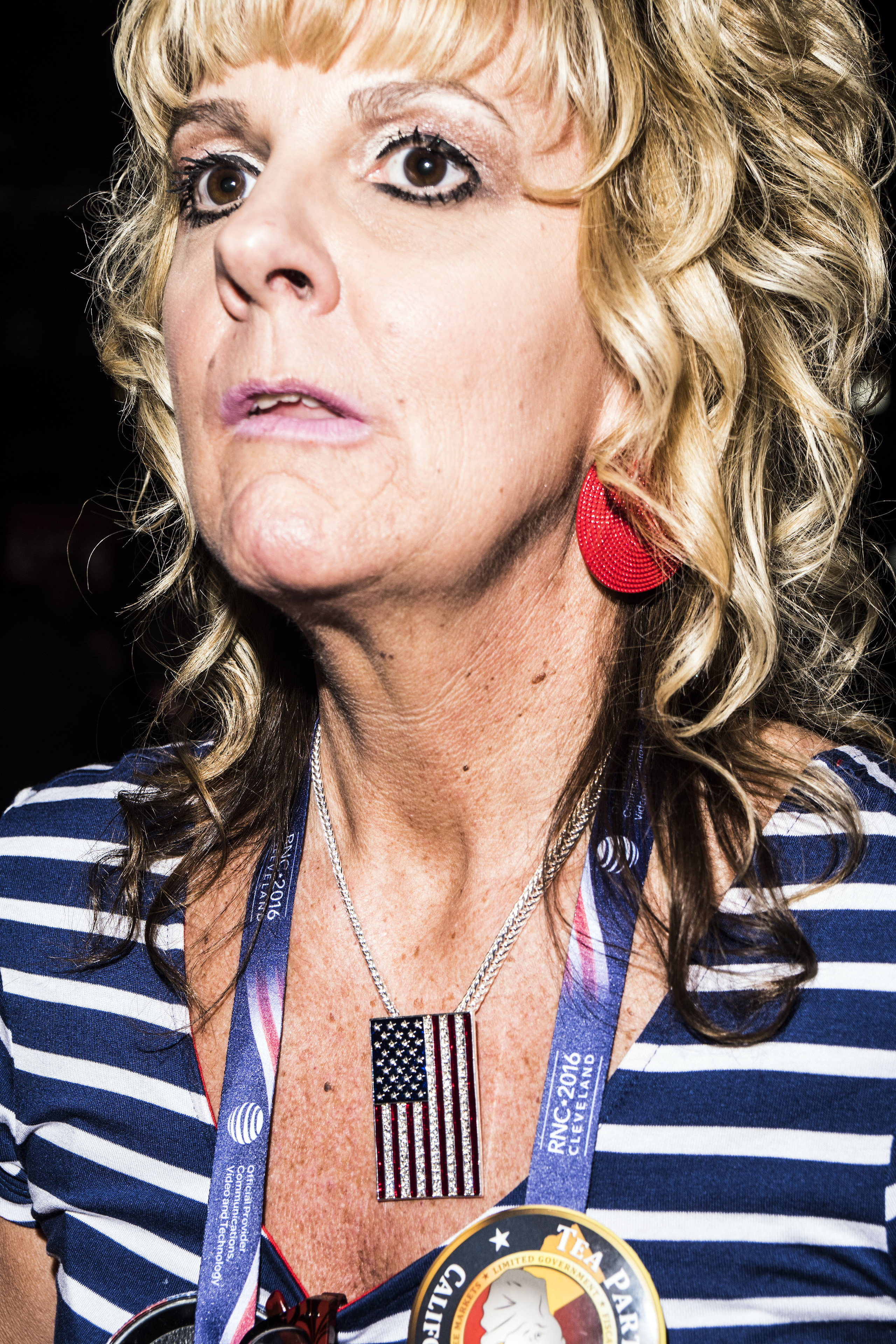 Donald Trump supporter at the Republican National Convention on July 19, 2016, at the Quicken Loans Arena in Cleveland, Ohio.