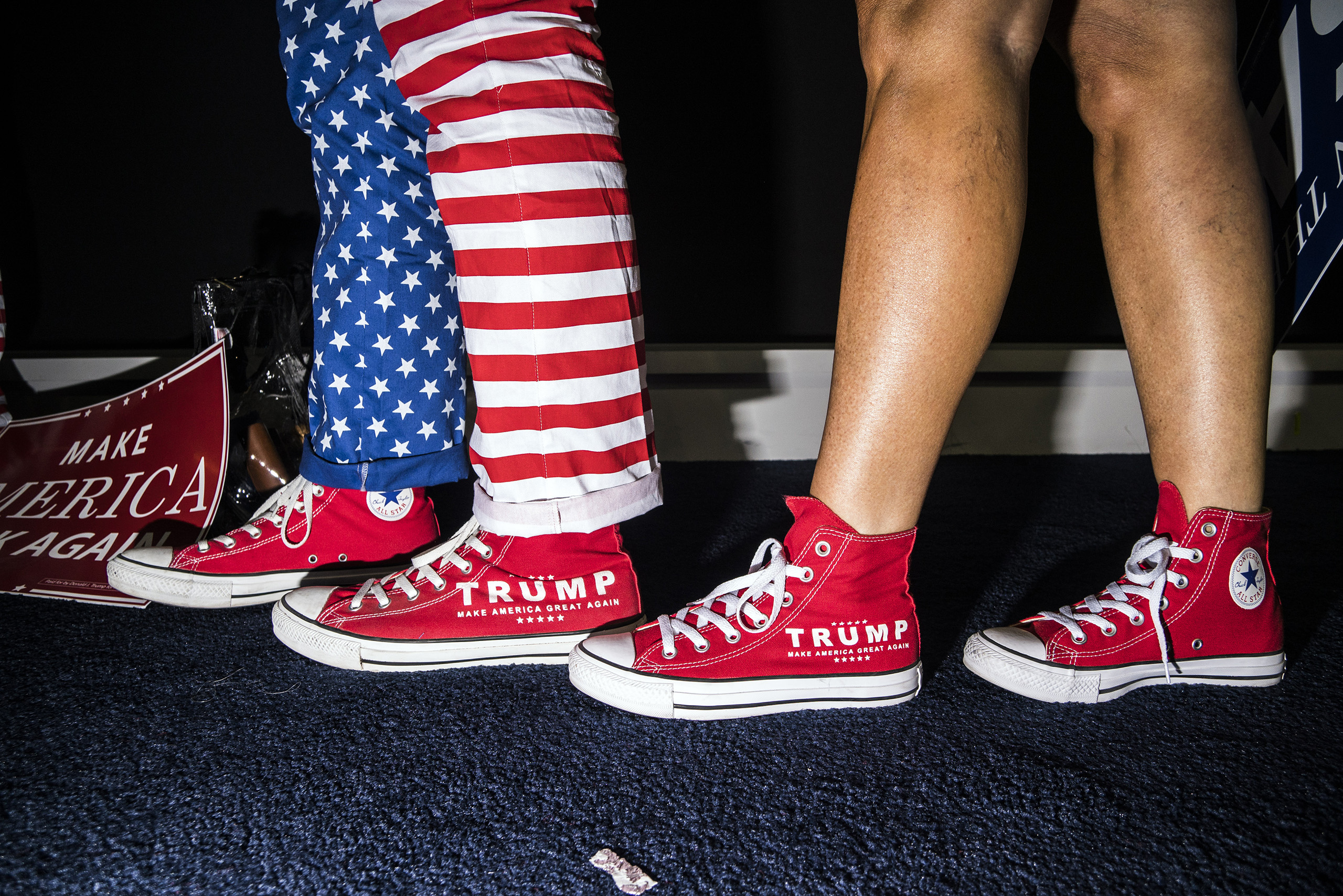 Patriotic apparel at the Republican National Convention on July 19, 2016, at the Quicken Loans Arena in Cleveland, Ohio.