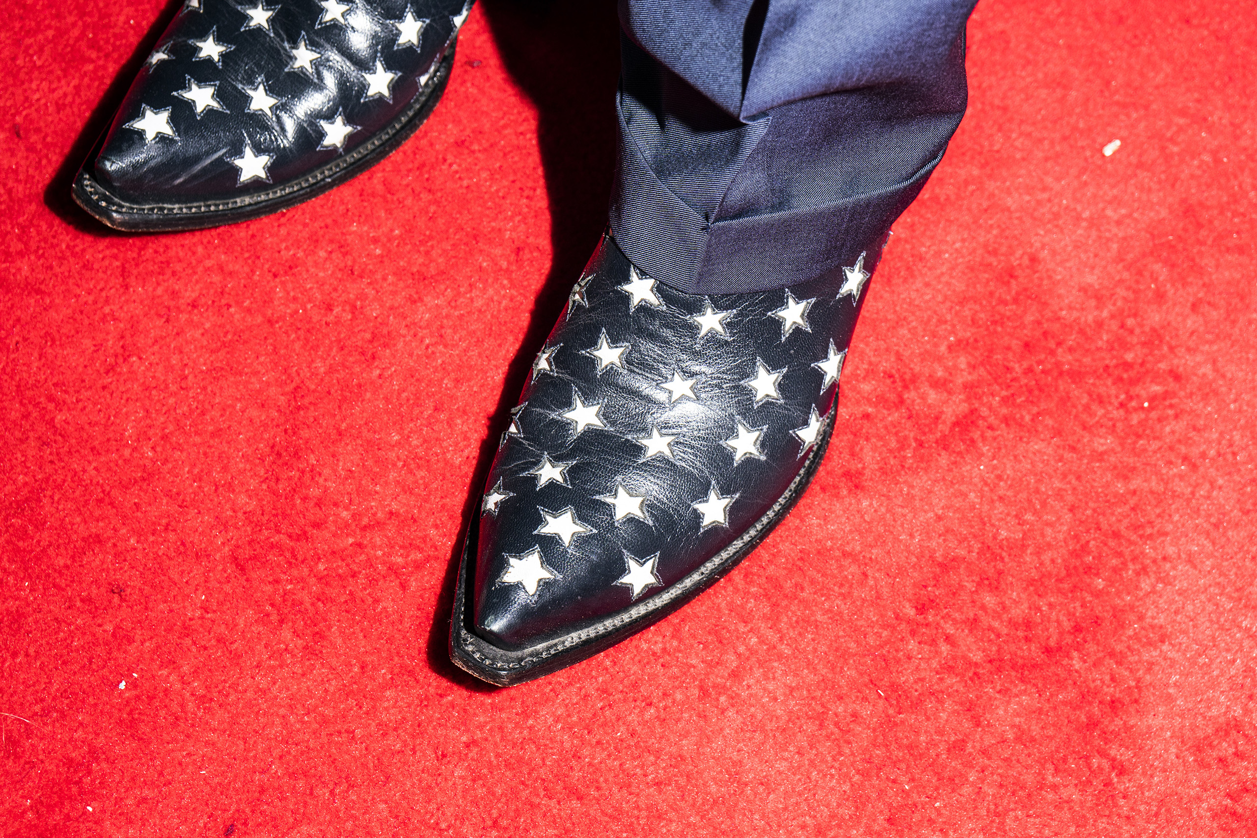 Star spangled shoes at the Republican National Convention in Cleveland, Ohio, U.S., on Monday, July 18, 2016.