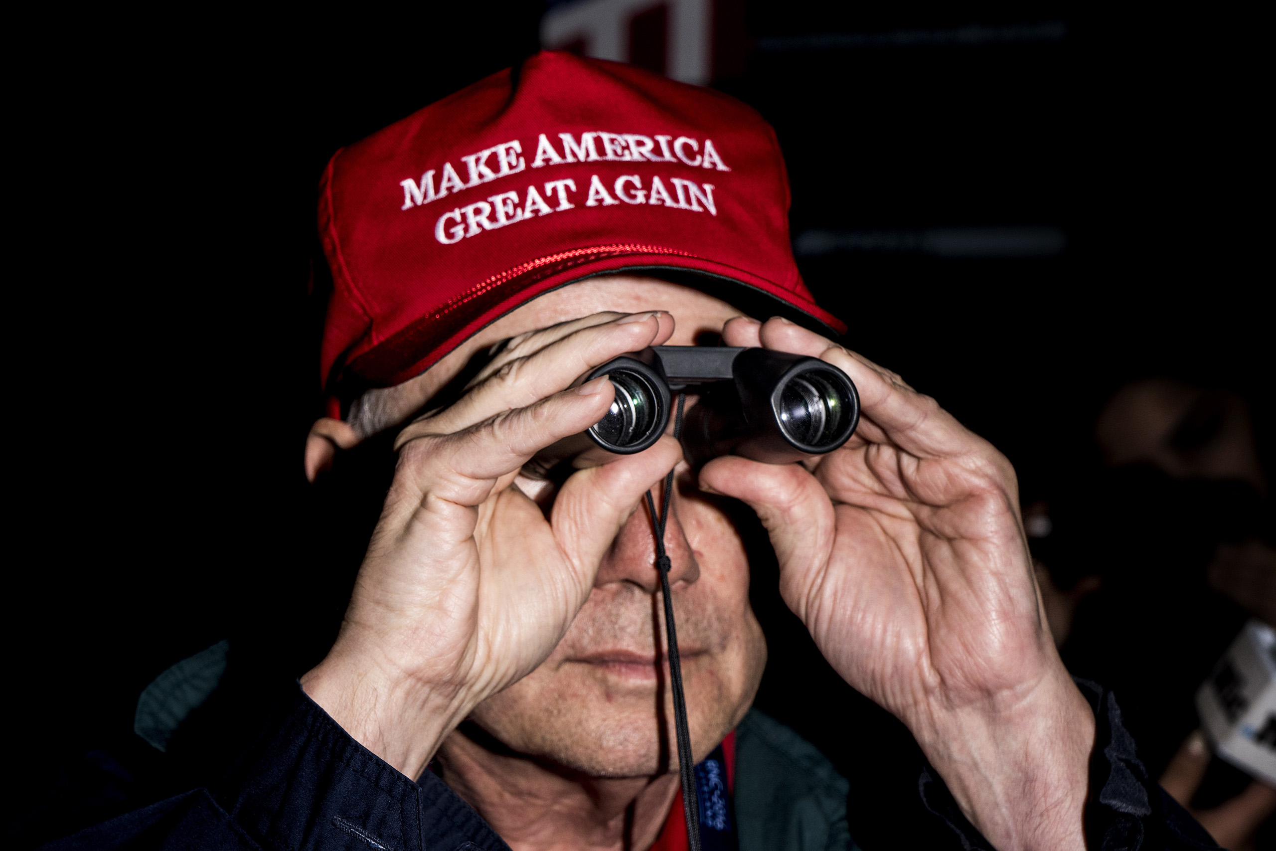 An attendee at the Republican National Convention on July 19, 2016, at the Quicken Loans Arena in Cleveland, Ohio.