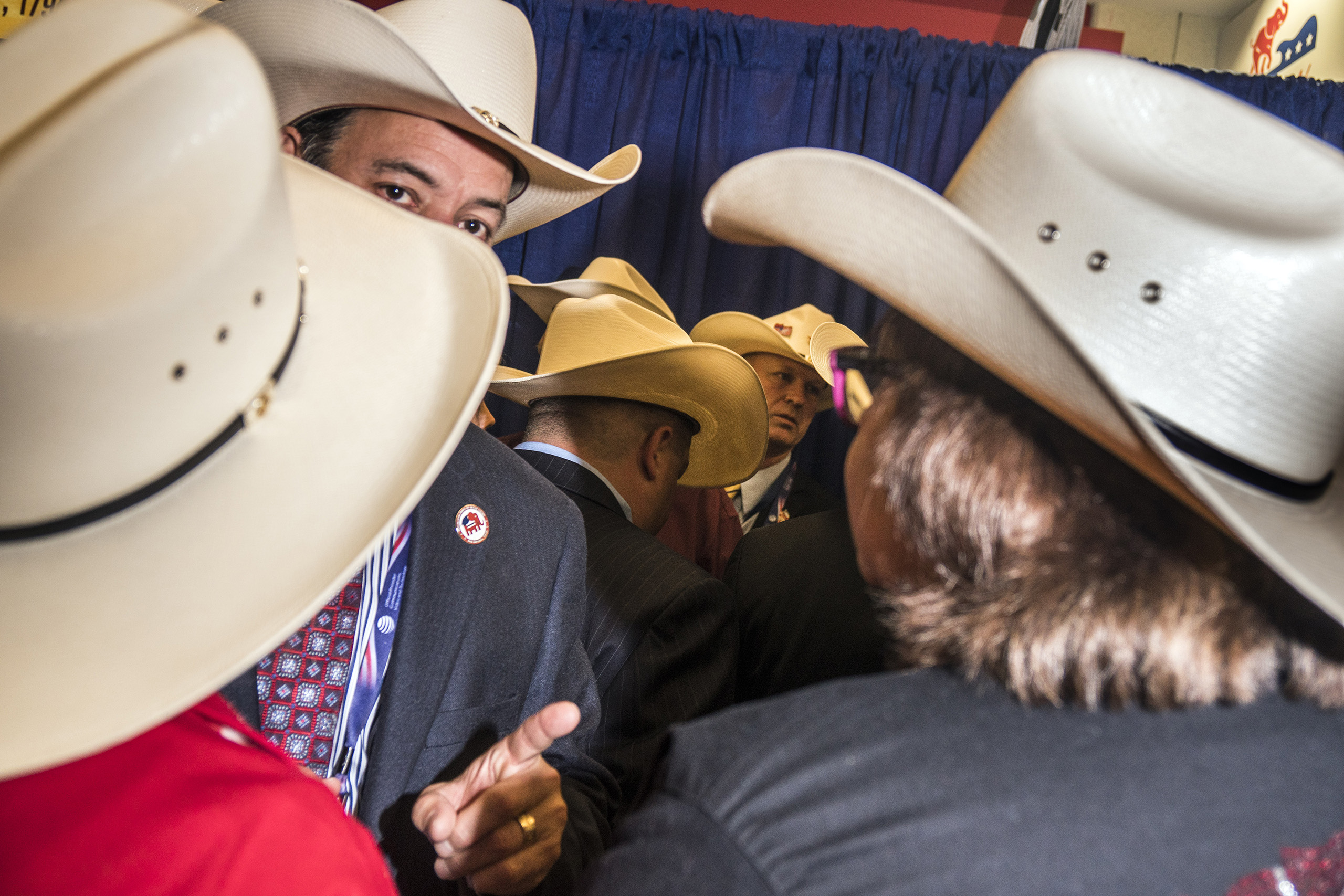 Texas delegates on the fourth day of the Republican National Convention on July 21, 2016 at the Quicken Loans Arena in Cleveland, Ohio.