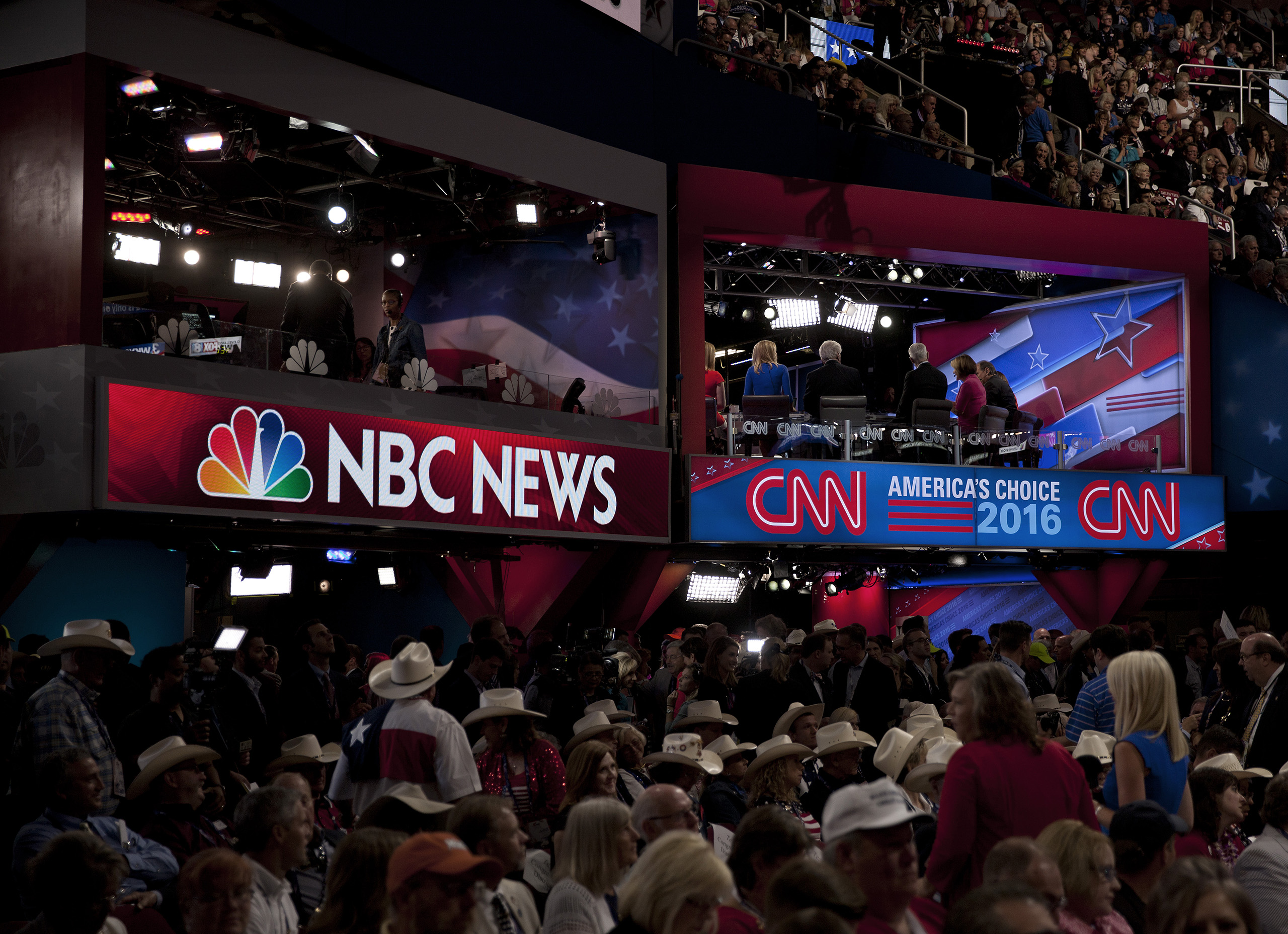 Media at the Republican National Convention on July 20, 2016 at the Quicken Loans Arena in Cleveland.