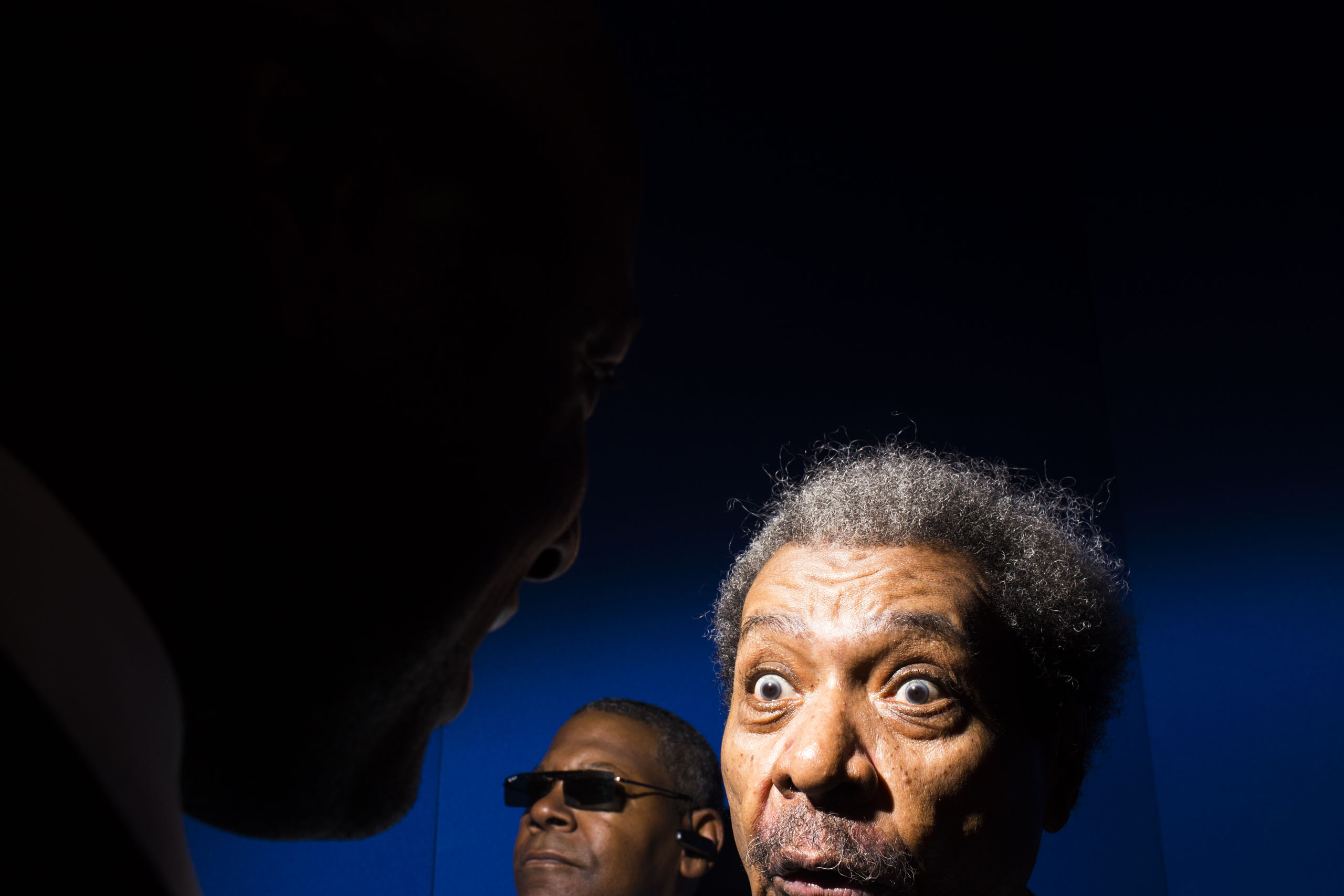 Cleveland native and famed boxing promoter Don King at the Republican National Convention, July 19, 2016 in Cleveland.