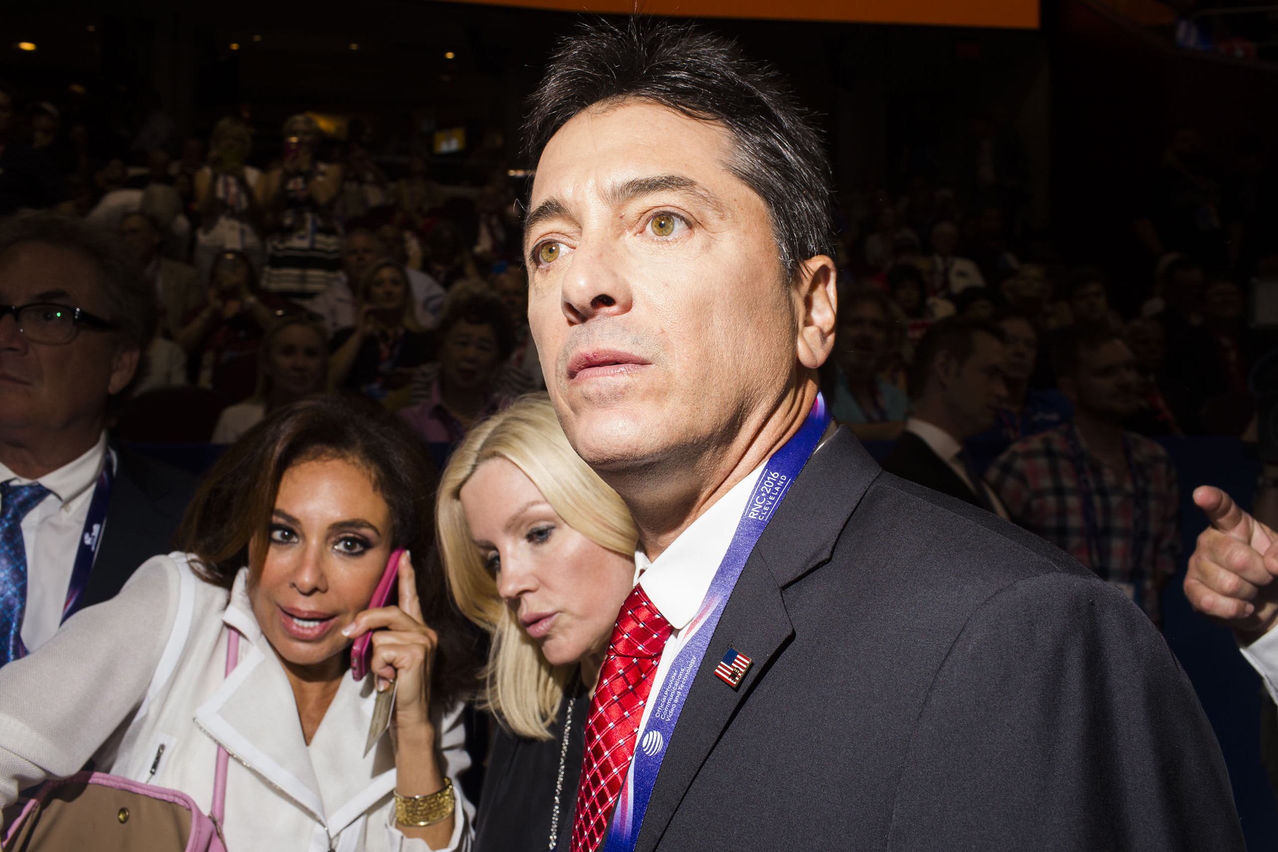 Actor Scott Baio after his speech, on the floor at the Republican National Convention, July 18, 2016 in Cleveland.