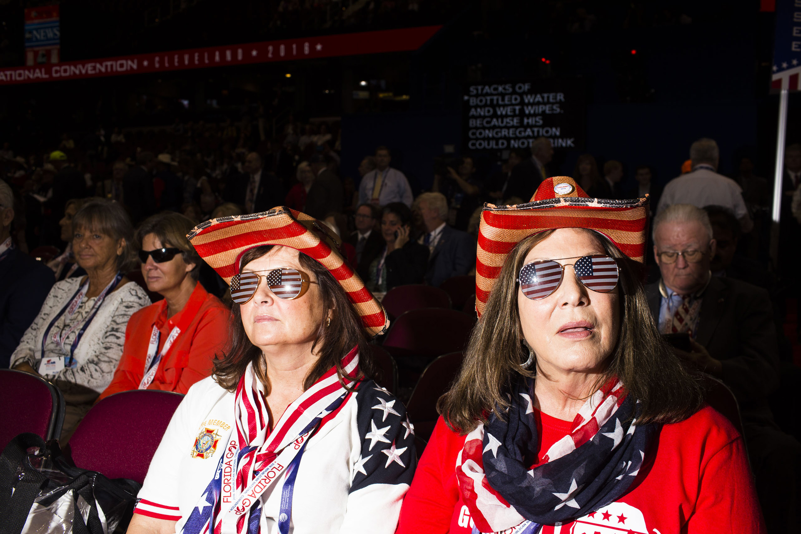 Florida delegates on the floor at the Republican National Convention, July 18, 2016 in Cleveland.