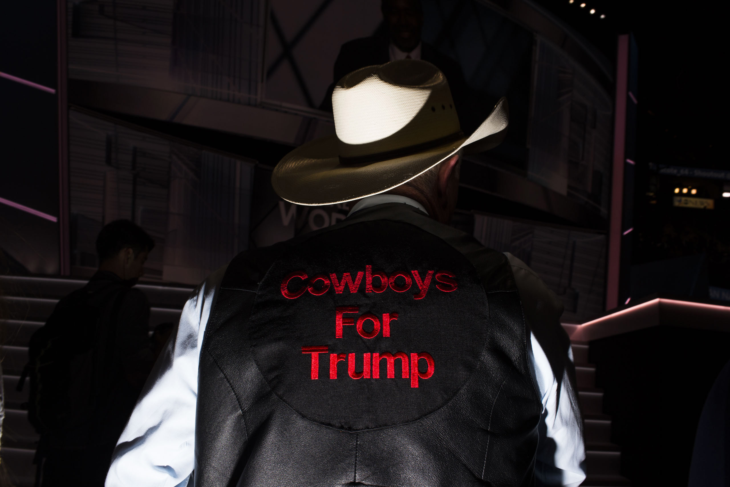 Cowboys for Trump on the floor at the Republican National Convention, July 19, 2016 in Cleveland.