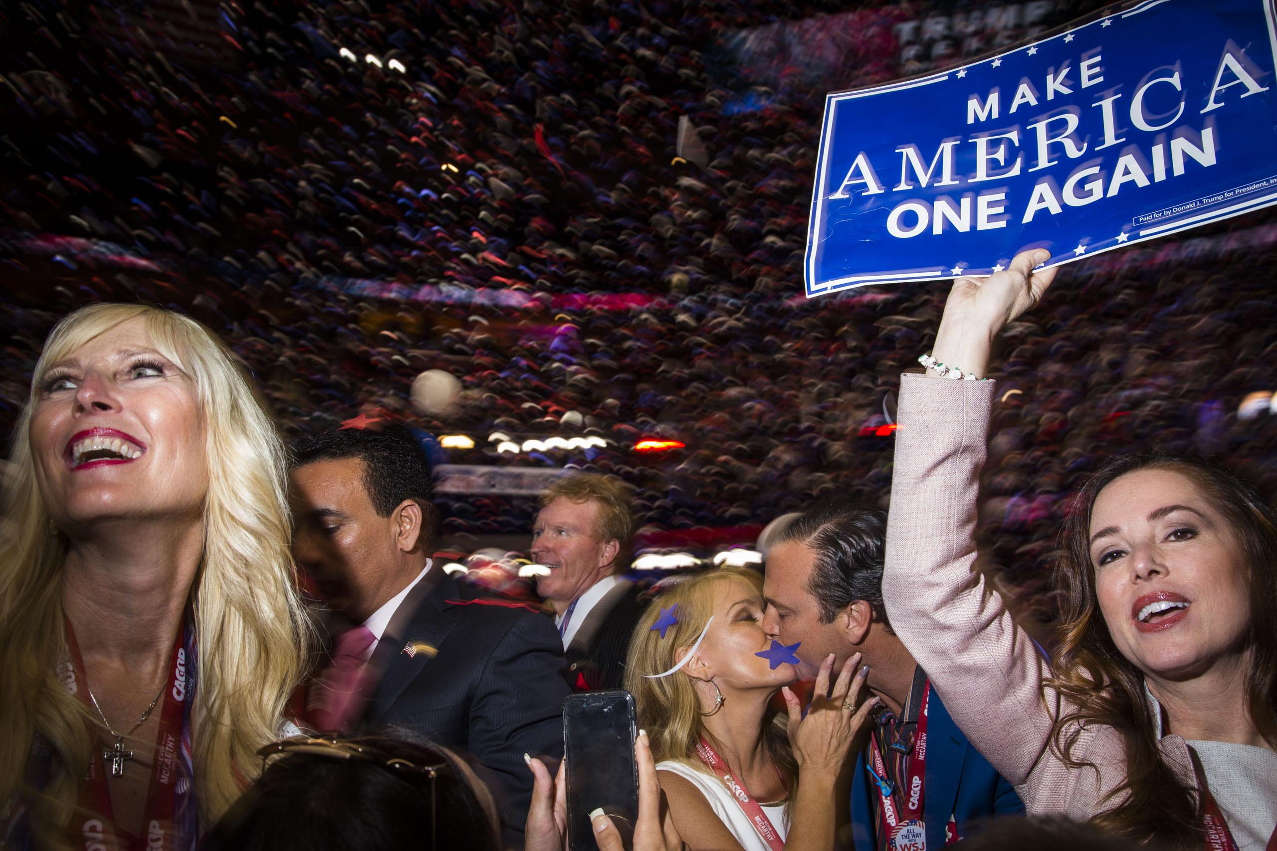 The balloon drop on the floor at the Republican National Convention in Cleveland on Thursday, July 21, 2016.