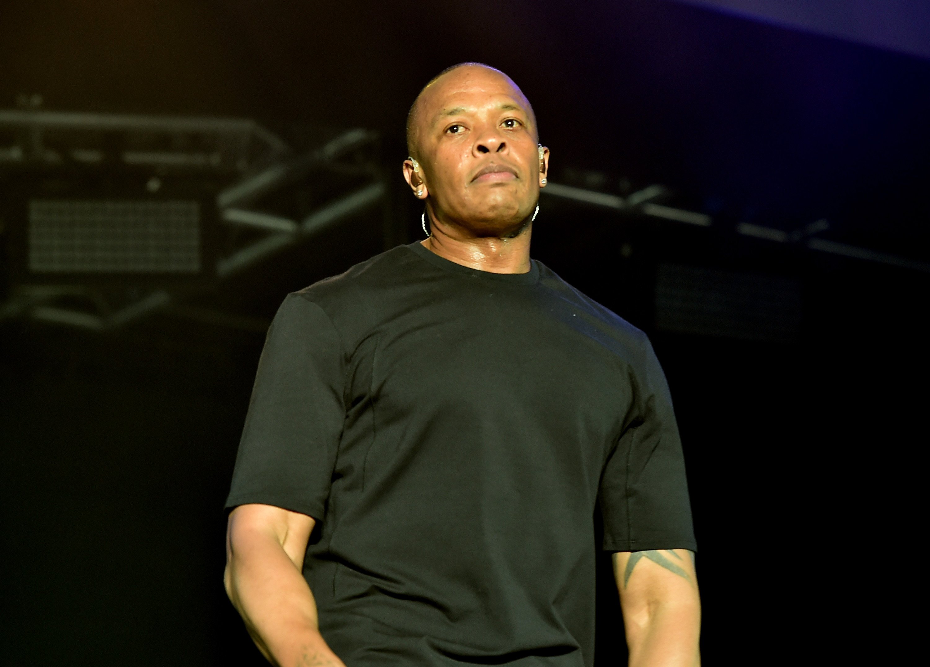 Recording artist Dr. Dre  performs onstage during day 2 of the 2016 Coachella Valley Music & Arts Festival Weekend 2 at the Empire Polo Club on April 23, 2016 in Indio, California.