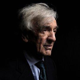 A portrait of Elie Wiesel, the writer Nobel laureate in 1986, in Paris on Nov. 30, 2011.
