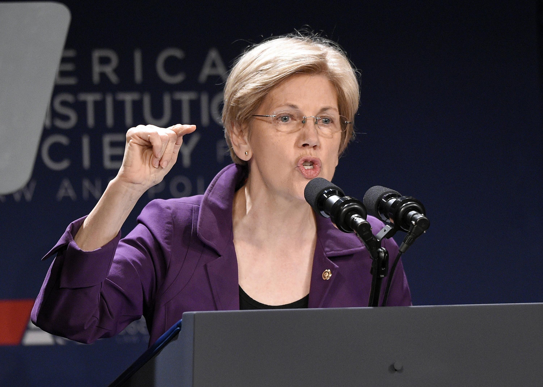 Sen. Elizabeth Warren, D-Mass. speaks in Washington. (Nick Wass—AP)