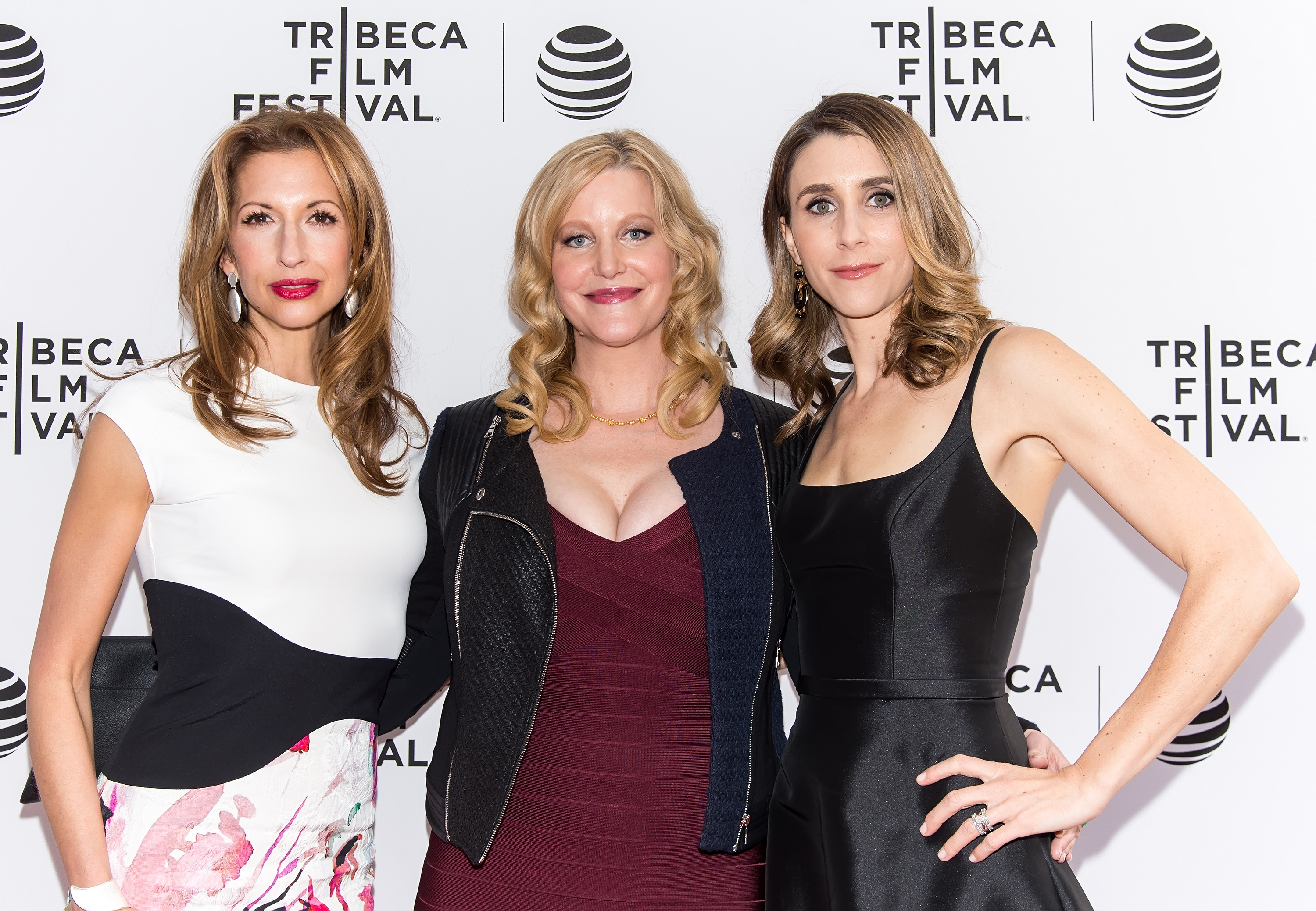 Alysia Reiner, Anna Gunn and Sarah Megan Thomas attend the Tribeca Film Festival on April 19, 2016 in New York City.