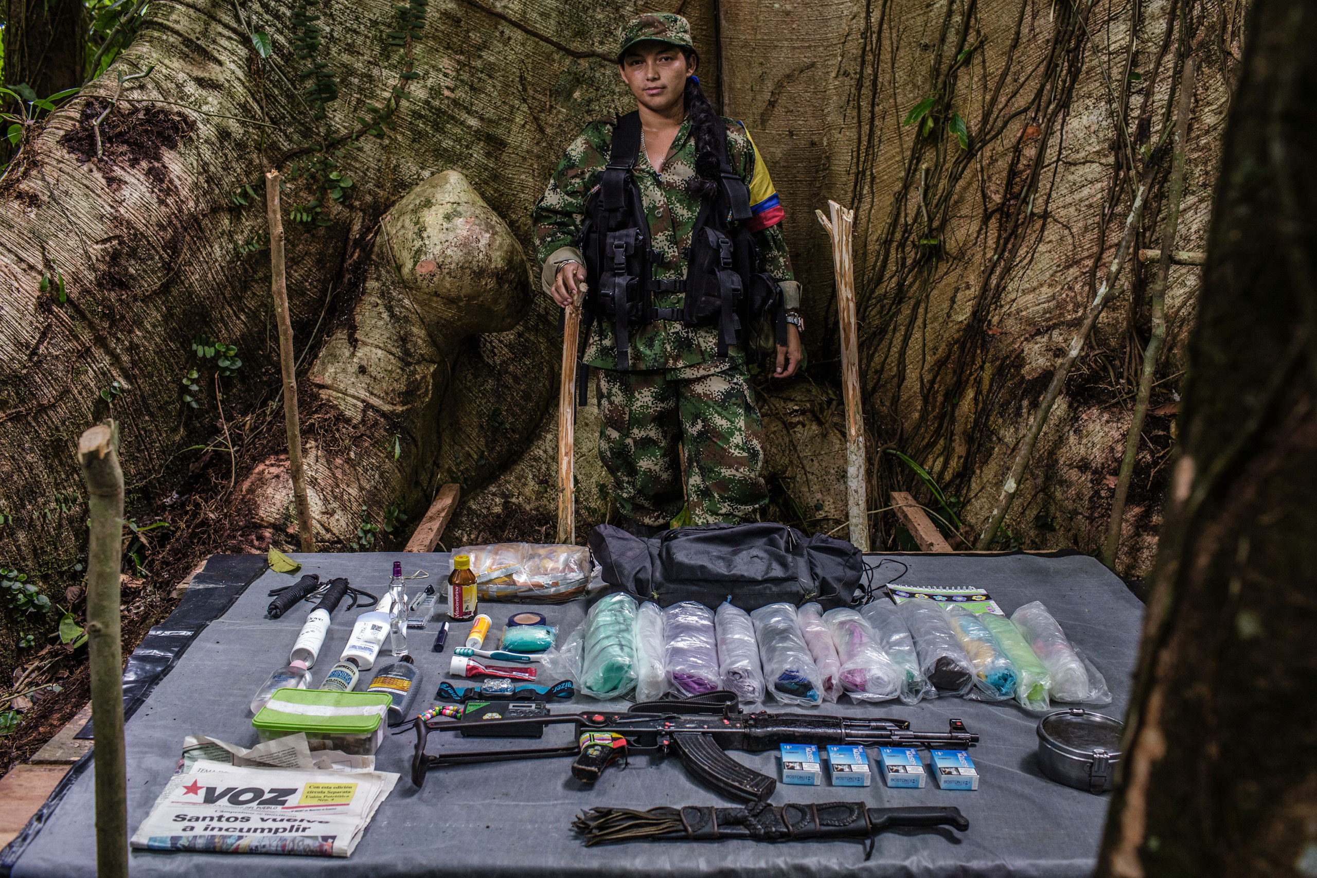 Mariana , 24-years old, has been with FARC for five years.                               She joined FARC because she was a victim of paramilitary violence in northern Colombia.