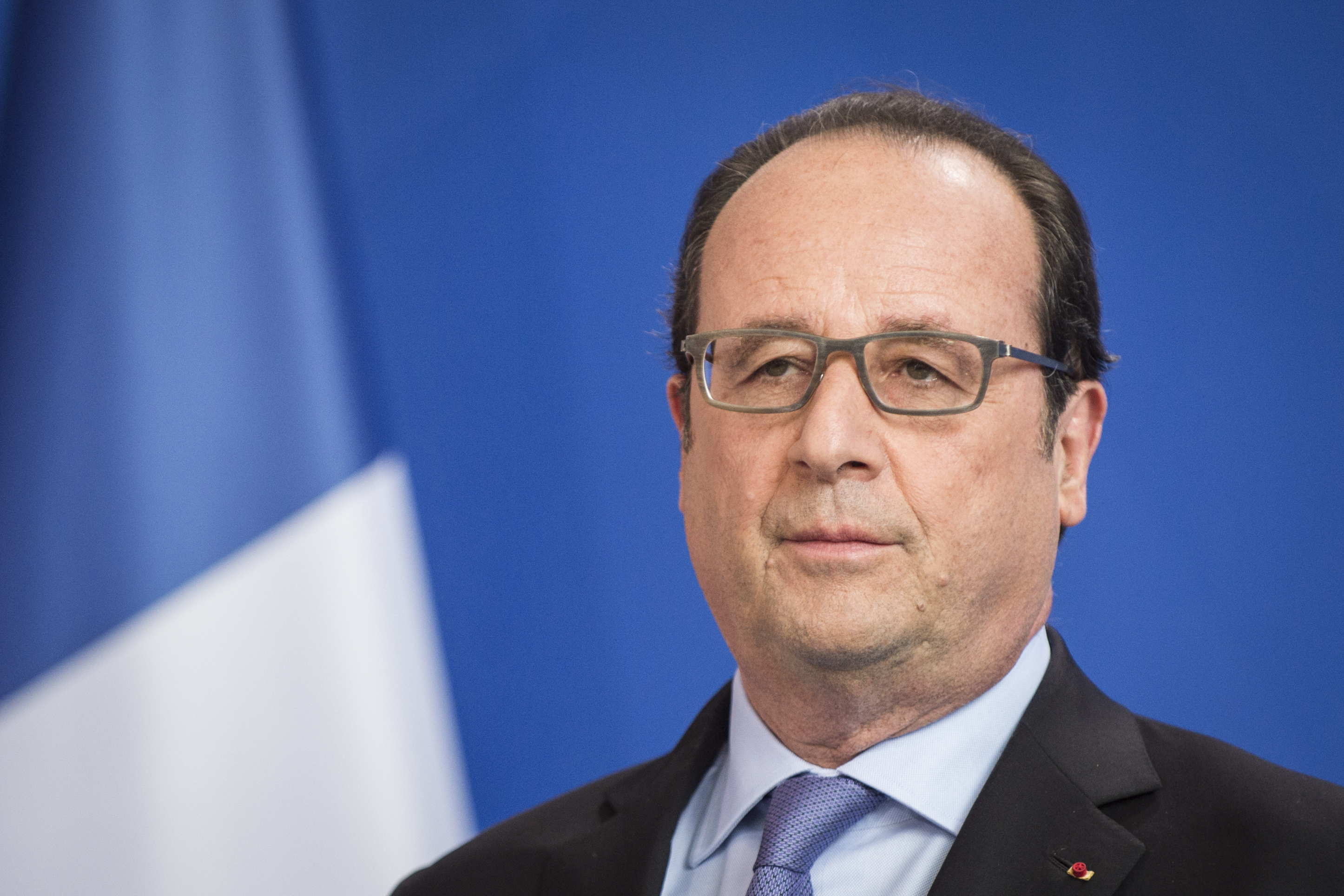 President of France Francois Hollande during a press conference on June 27, 2016 in Berlin, Germany.