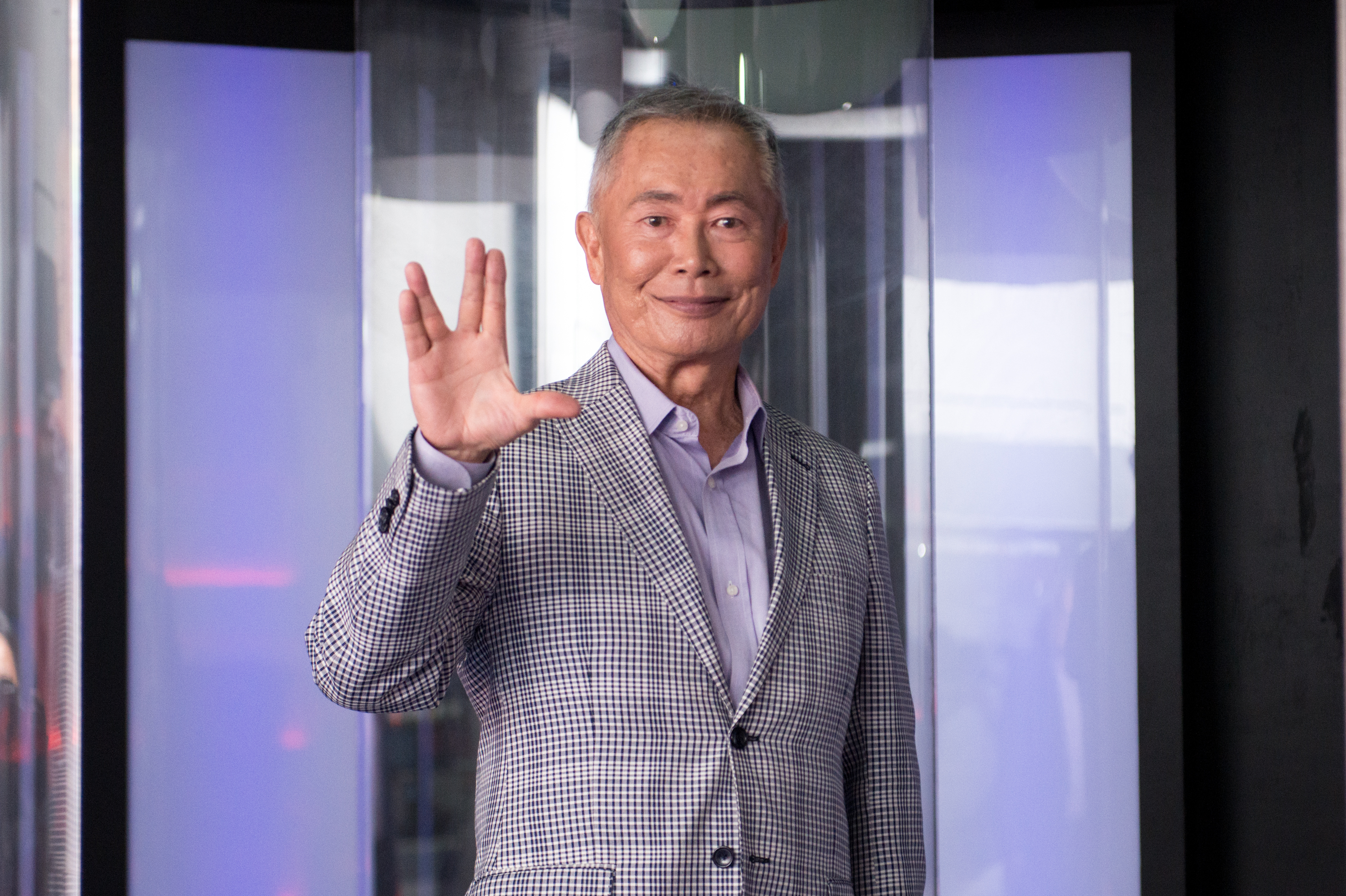 Actor George Takei attends the Star Trek: The Star Fleet Academy Experience at Intrepid Sea-Air-Space Museum on June 30, 2016 in New York City.