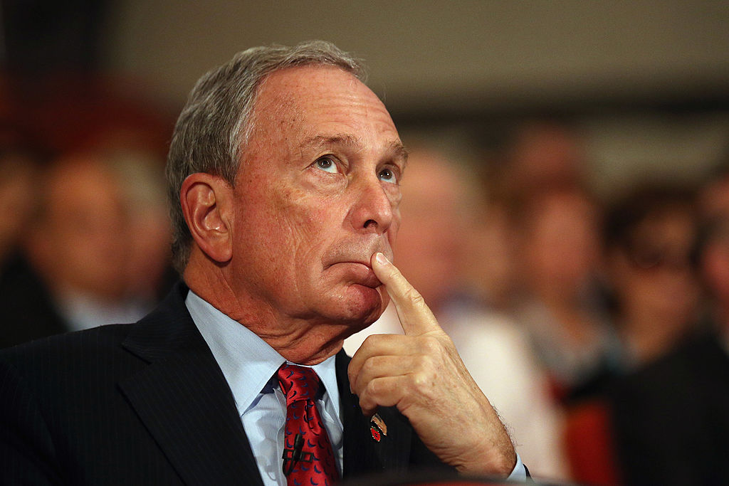 Michael Bloomberg is pictured here on Oct. 10, 2012 in Birmingham, England.