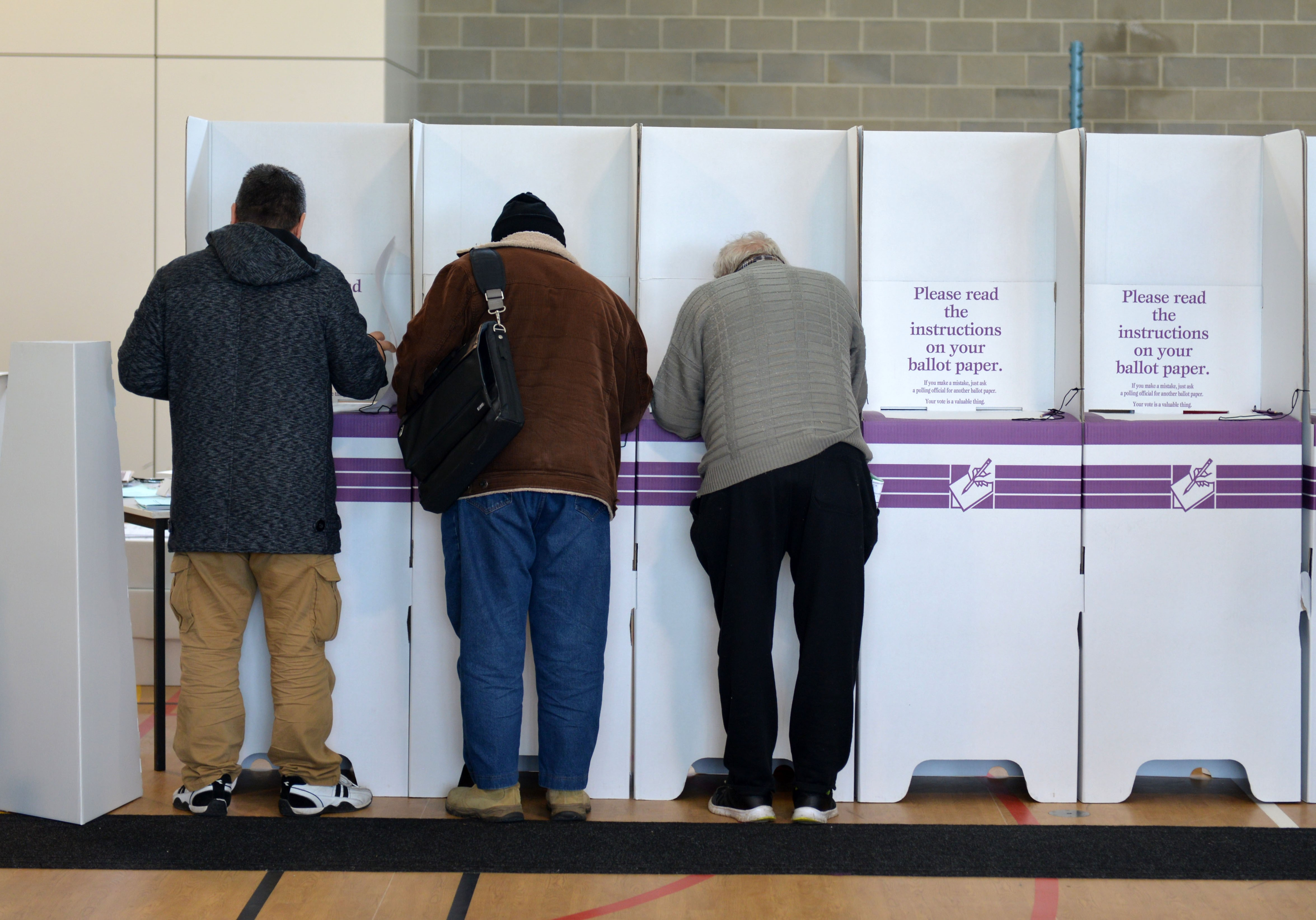 People cast their vote on election day to determine all 226 members of the 45th Parliament of Australia in Melbourne on July 2, 2016
