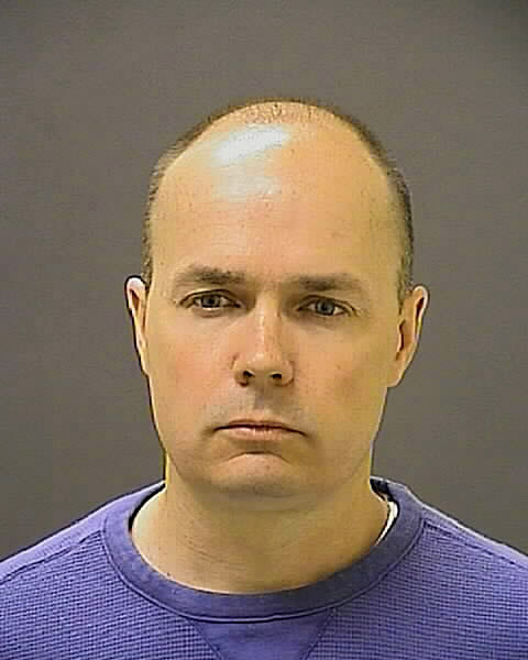 Lt. Brian Rice poses for a mug shot in Baltimore, Maryland, on May 1, 2015.