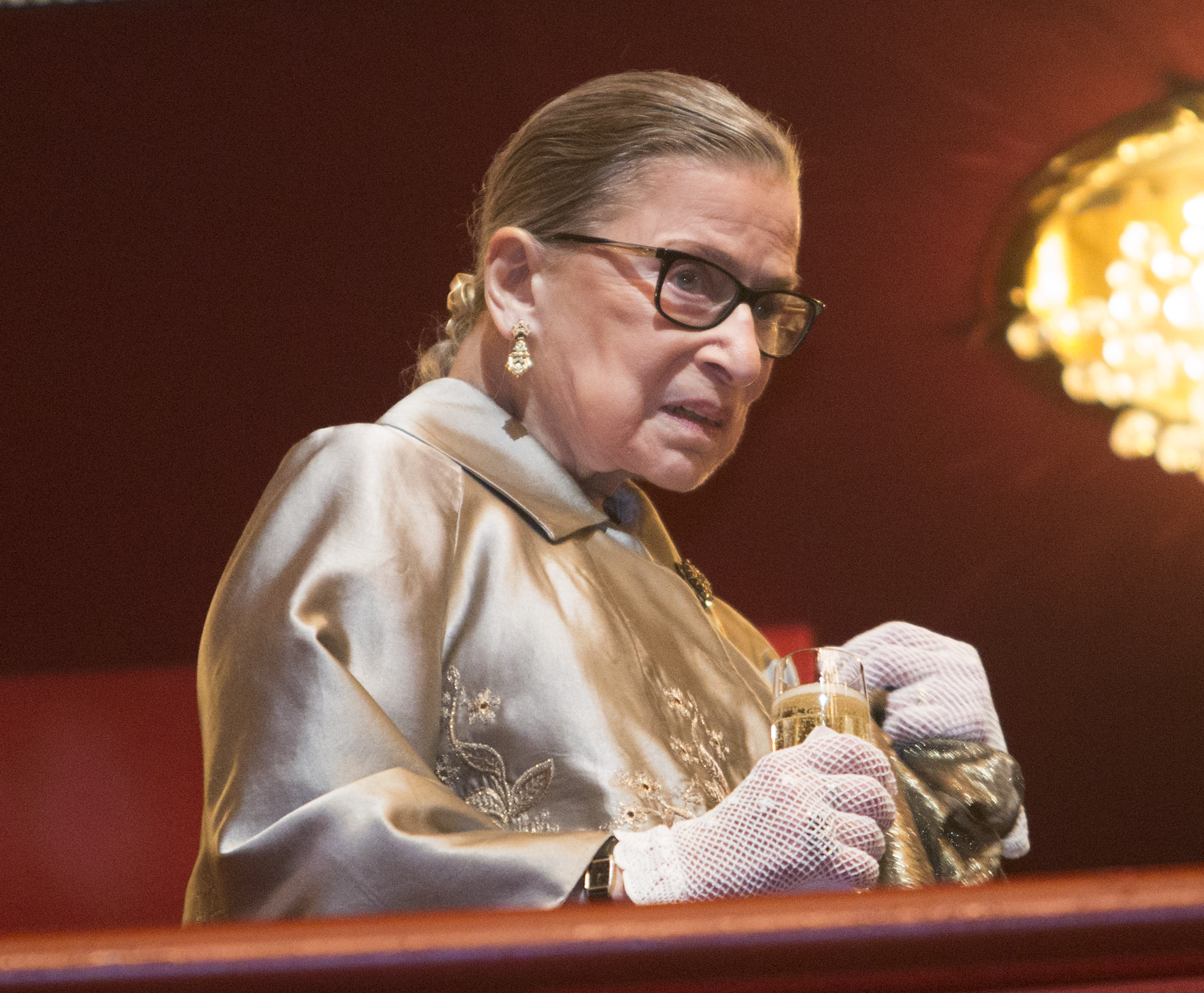Supreme Court Justice Ruth Bader Ginsburg at the Kennedy Center Honors in Washington, D.C., on Dec. 6, 2015