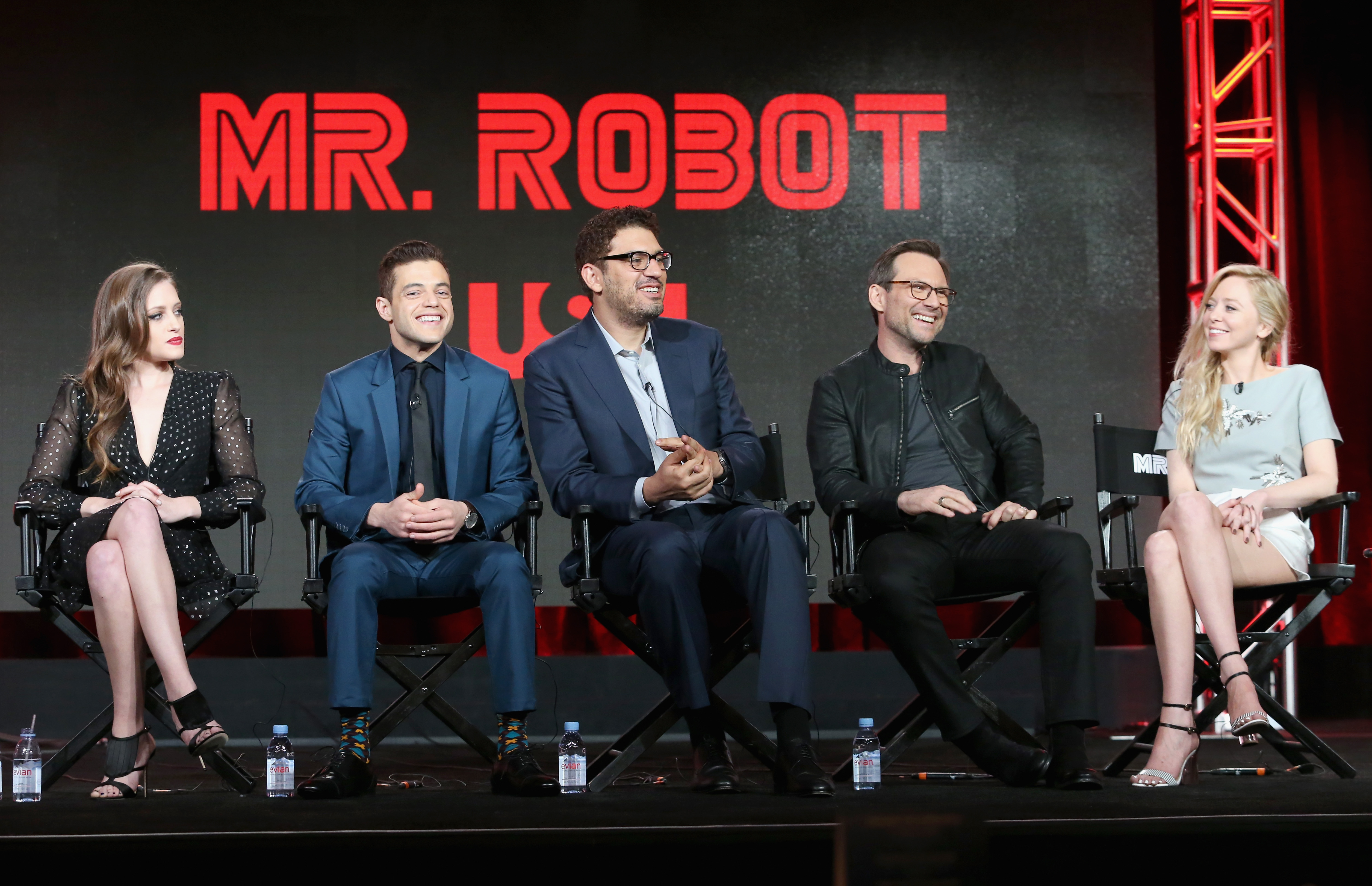 The Mr. Robot cast at the NBCUniversal portion of the 2016 Winter TCA Tour at Langham Hotel on January 14, 2016 in Pasadena, California