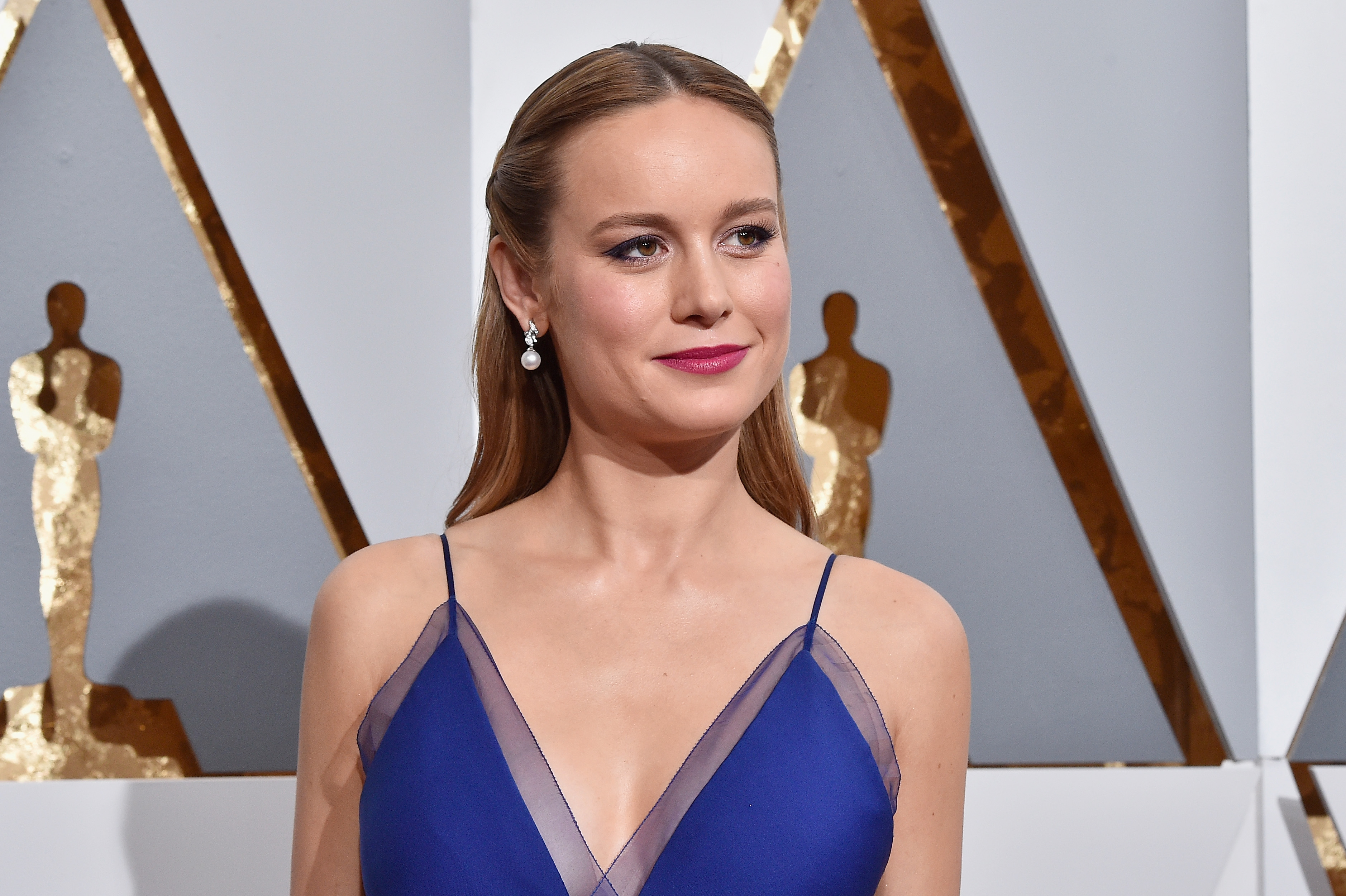 Actress Brie Larsen attends the 88th Annual Academy Awards at Hollywood Highland Center on February 28, 2016.