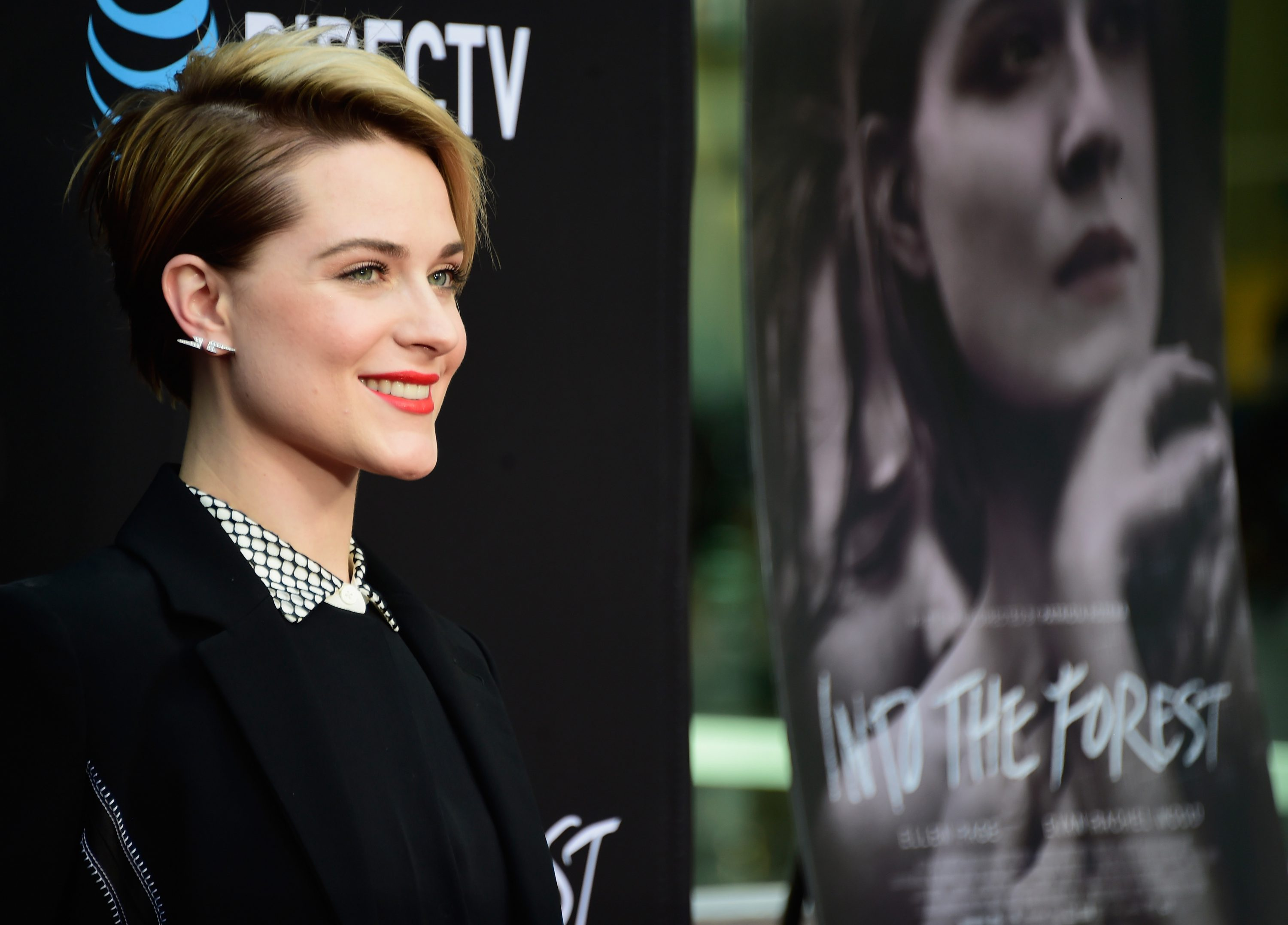 Actress Evan Rachel Wood arrives at the Premiere of A24's  Into The Forest
