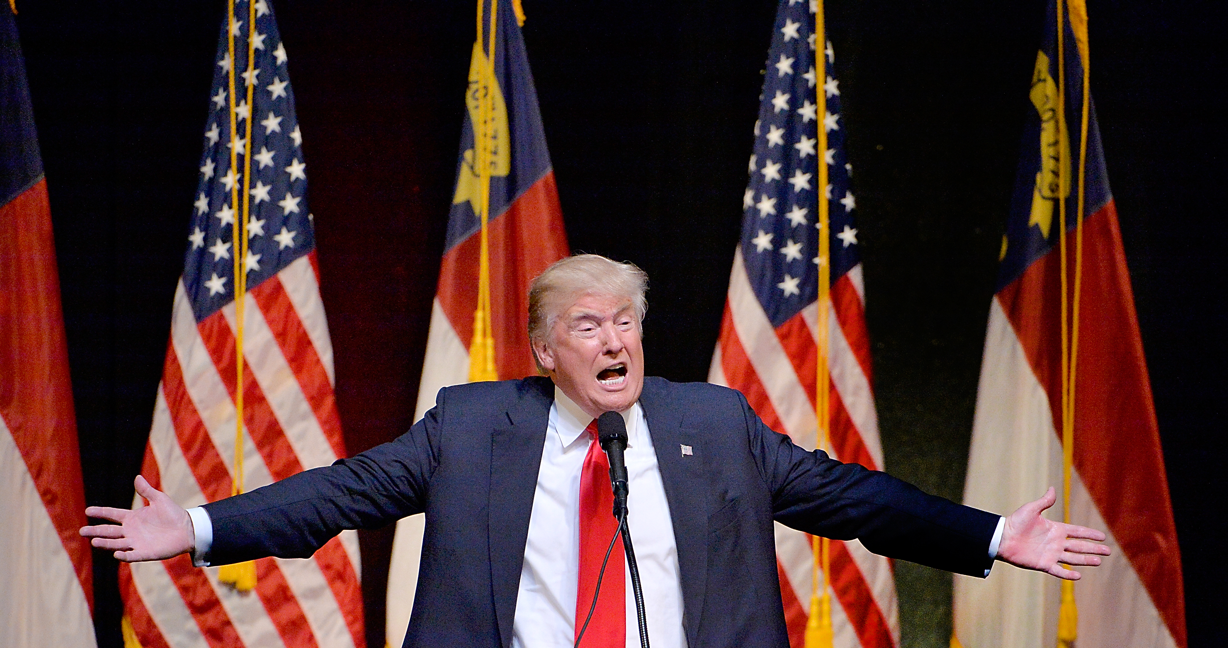 Trump, roughly: Saddam Hussein was thiiiiiiiiis good at killing terrorists.