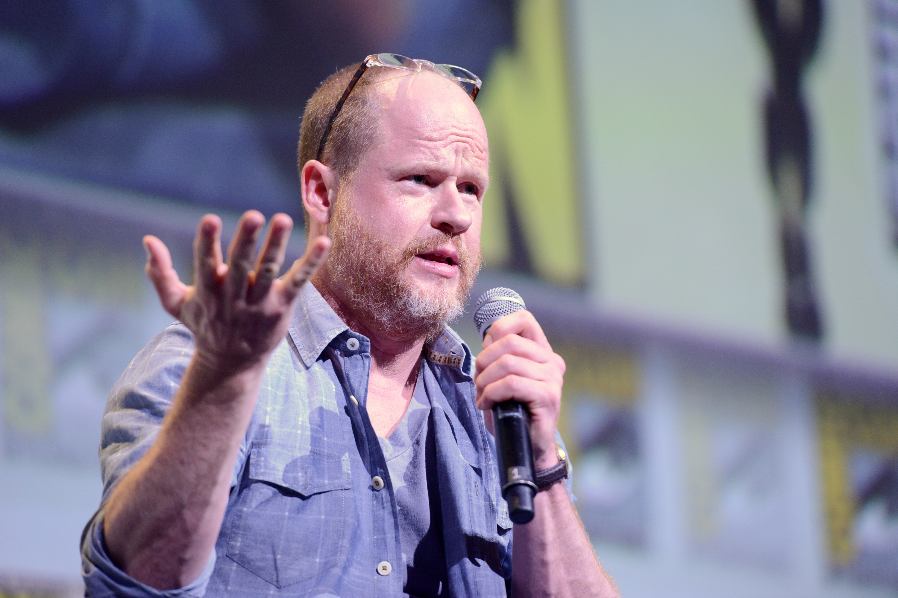 Writer/director Joss Whedon attends Dark Horse: Conversations With Joss Whedon during Comic-Con International 2016 at San Diego Convention Center on July 22, 2016 in San Diego, California. (Photo by Albert L. Ortega/Getty Images)