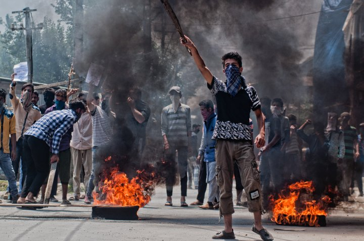 Protesters Take To The Streets As Tensions Remain High In Kashmir