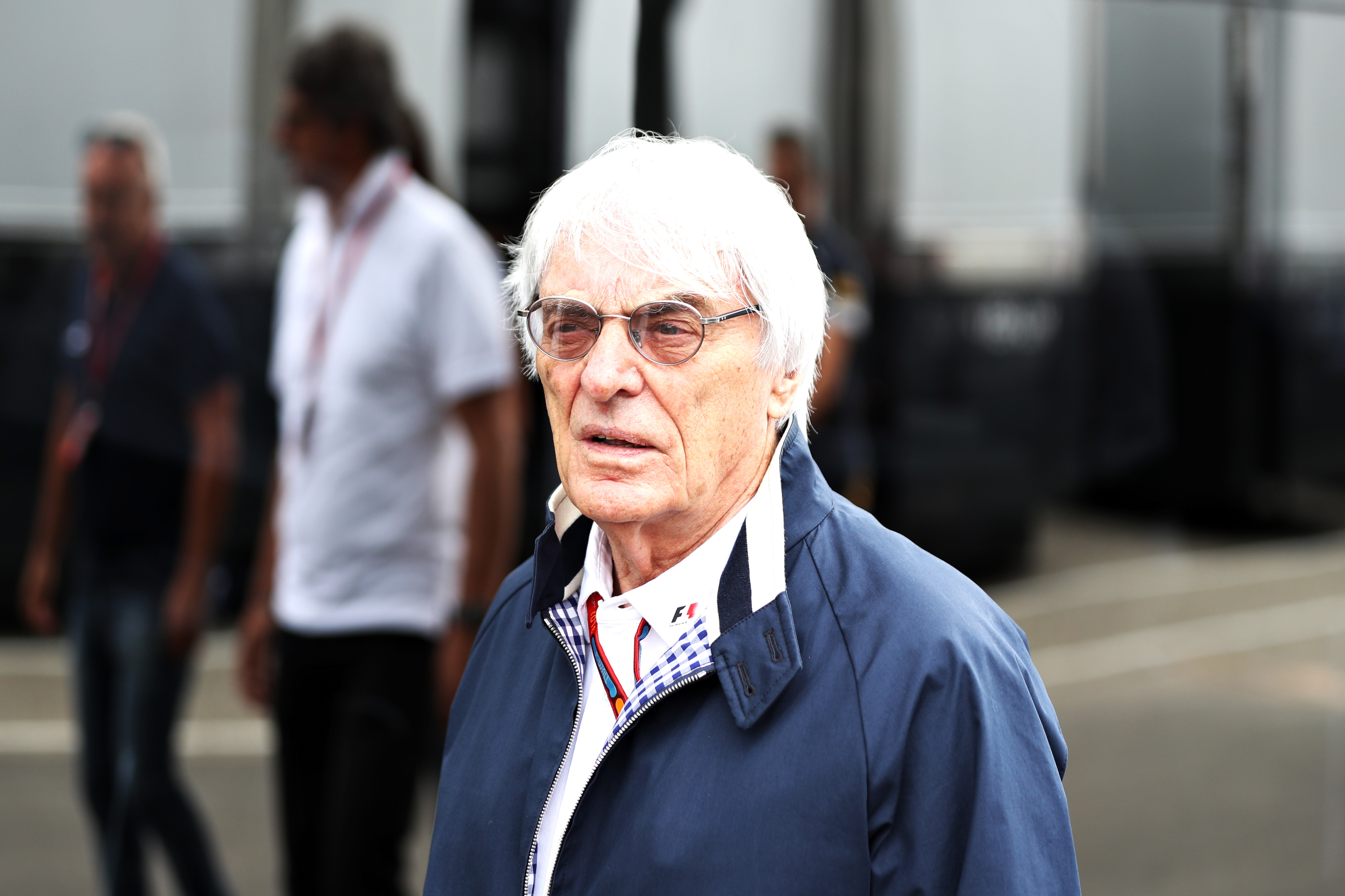 F1 supremo Bernie Ecclestone walks in the paddock  during practice for the Formula One Grand Prix of Germany on July 29, 2016, in Hockenheim, Germany