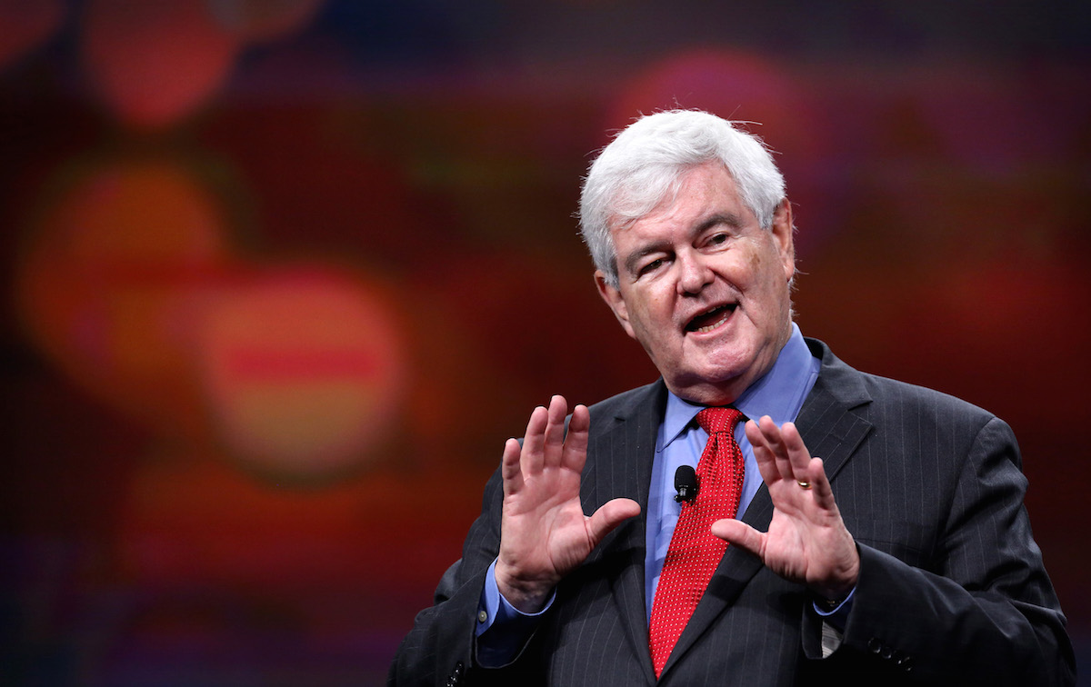 Newt Gingrich delivers remarks at the Visit Orlando annual luncheon  in Orlando, Dec. 8, 2015.