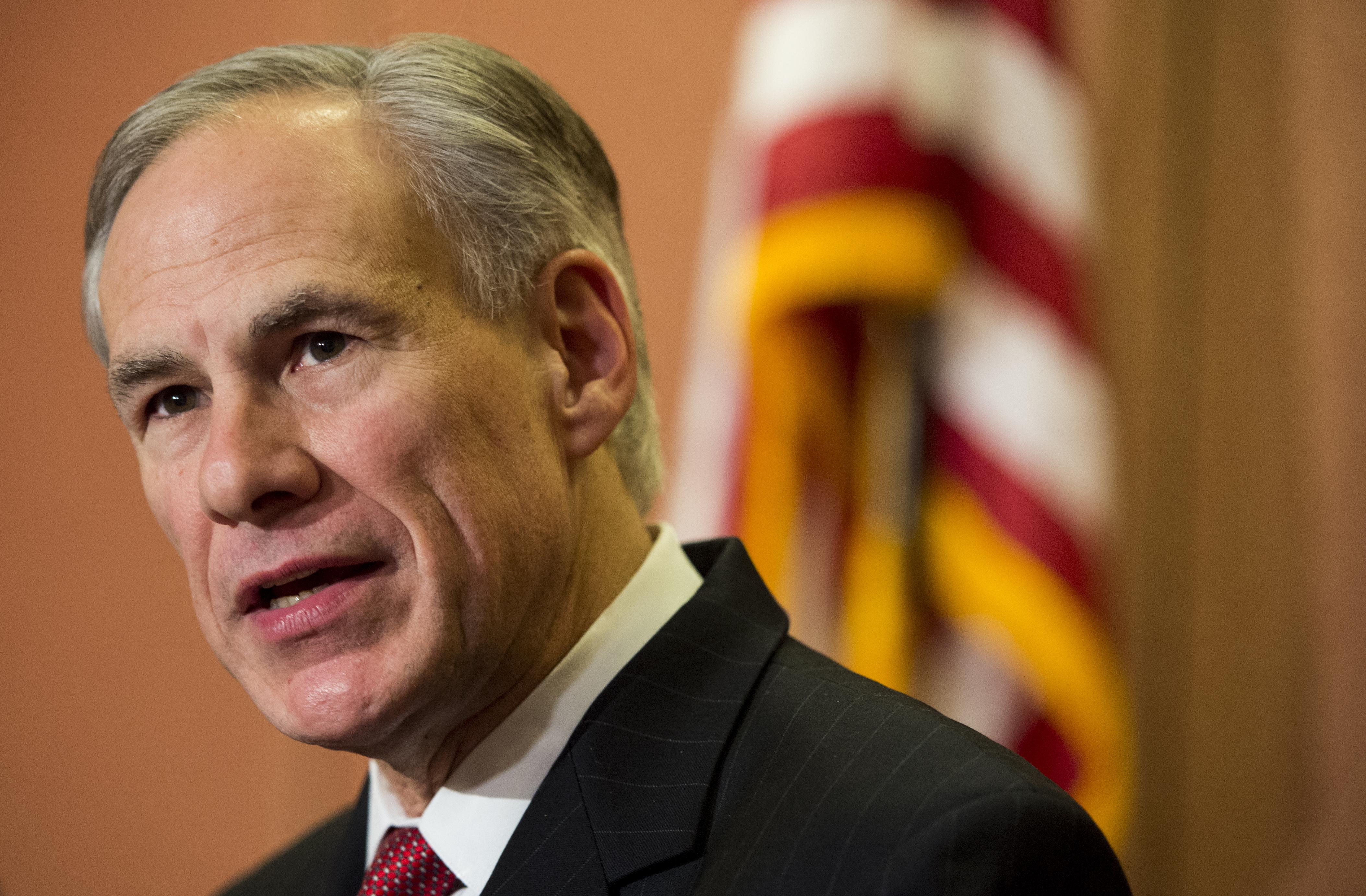 Texas Gov. Greg Abbott in the U.S. Capitol, Dec. 8, 2015.